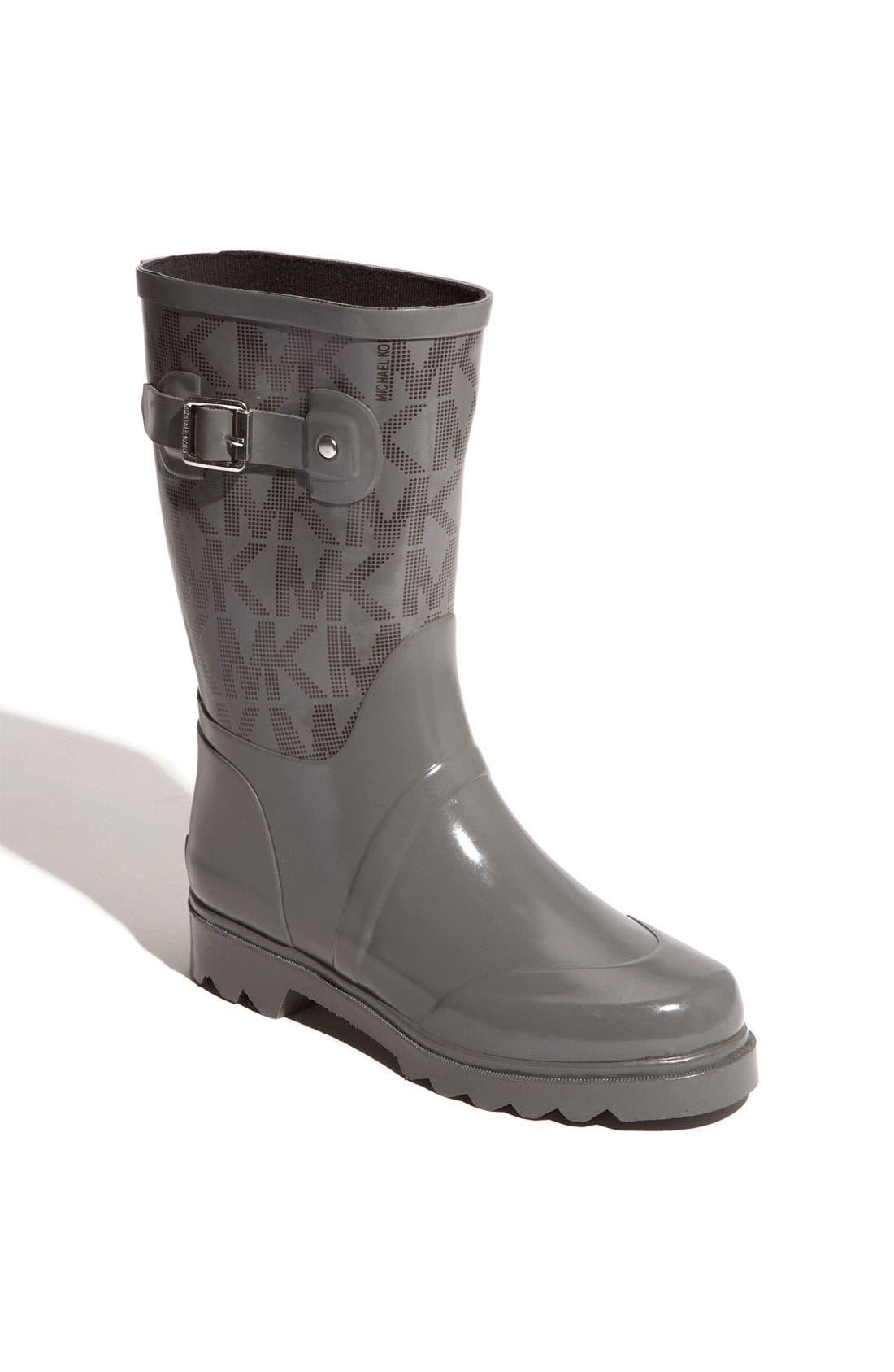 Main Image - MICHAEL Michael Kors 'Logo - Mid' Rain Boot (Women)