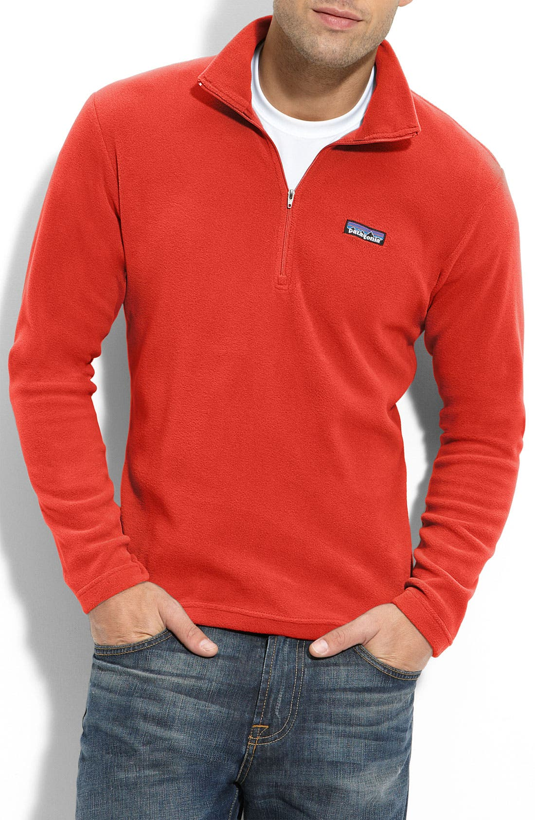 Main Image - Patagonia 'Micro D-Luxe' Fleece Quarter Zip Pullover