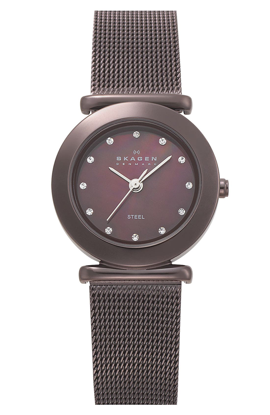 Alternate Image 1 Selected - Skagen Ladies' Mesh Strap Watch, 25mm