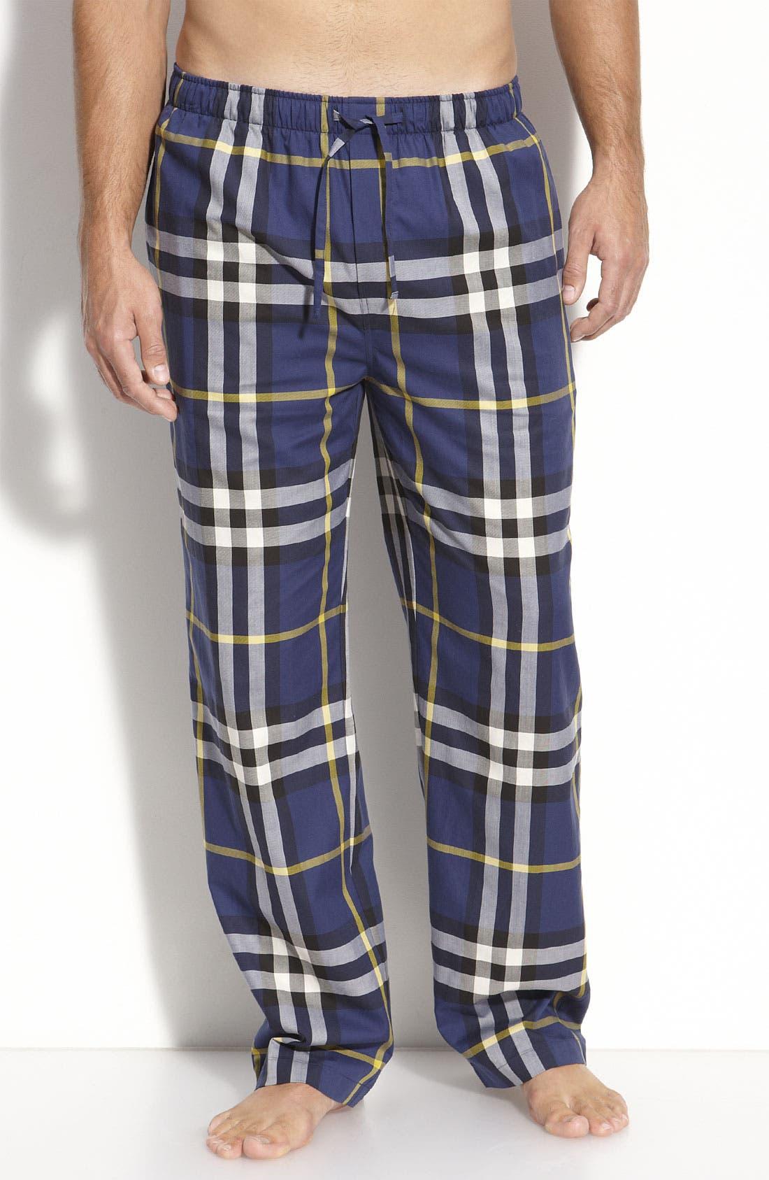 Alternate Image 1 Selected - Burberry Check Pajama Pants