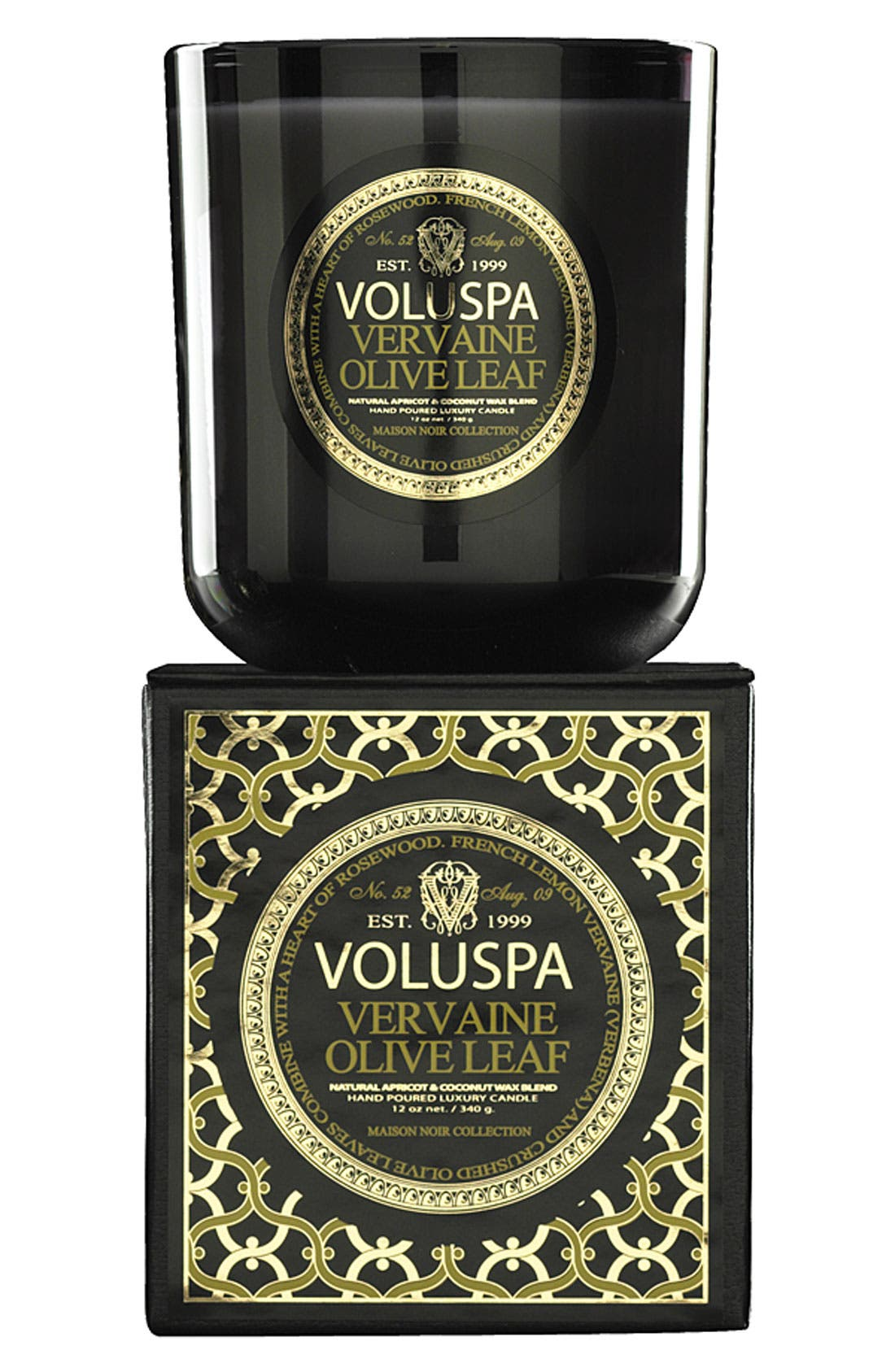 Alternate Image 1 Selected - Voluspa 'Maison Noir - Vervaine Olive Leaf' Scented Candle