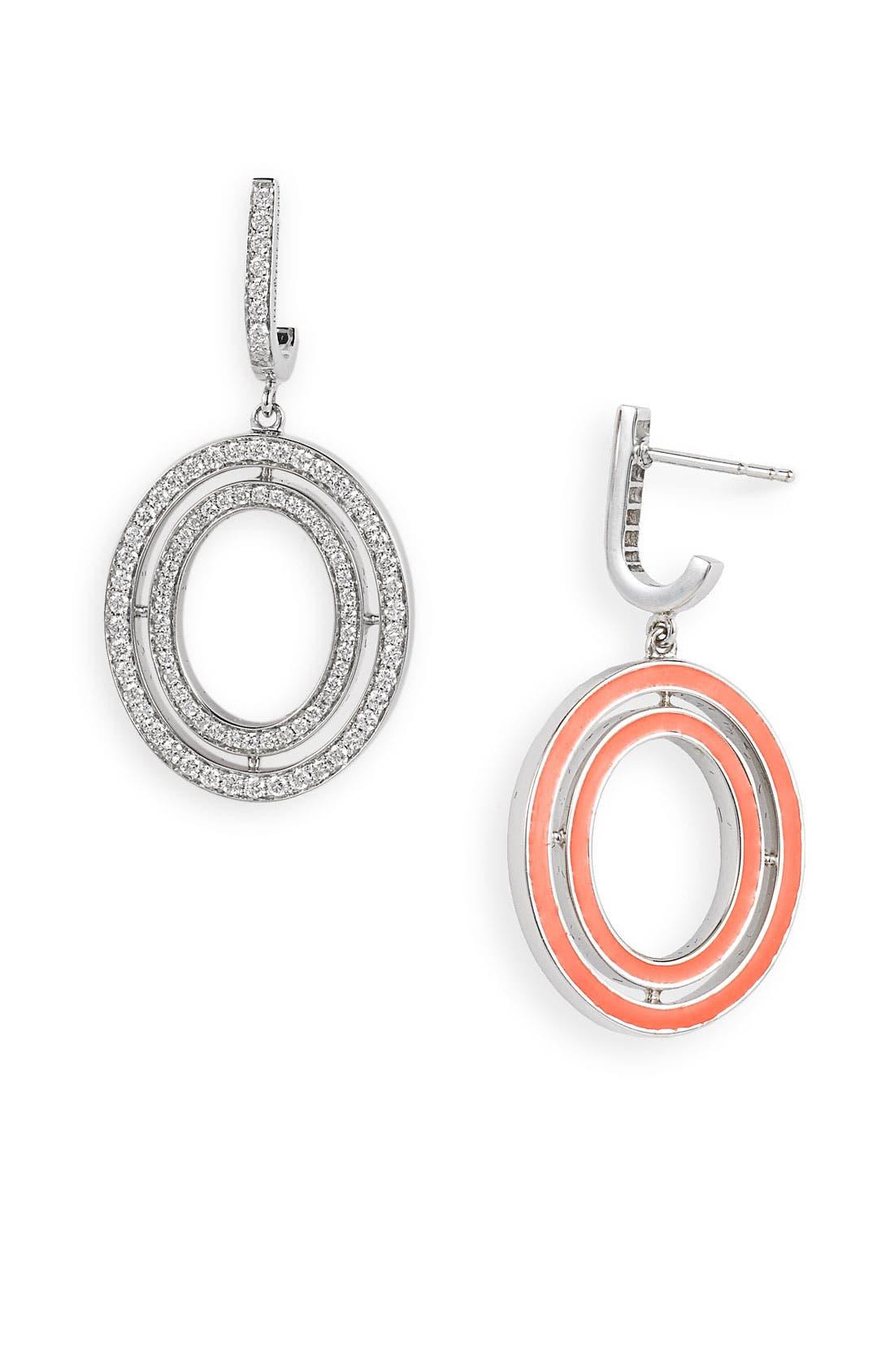 Alternate Image 2  - Ivanka Trump Small Oval Diamond Drop Earrings