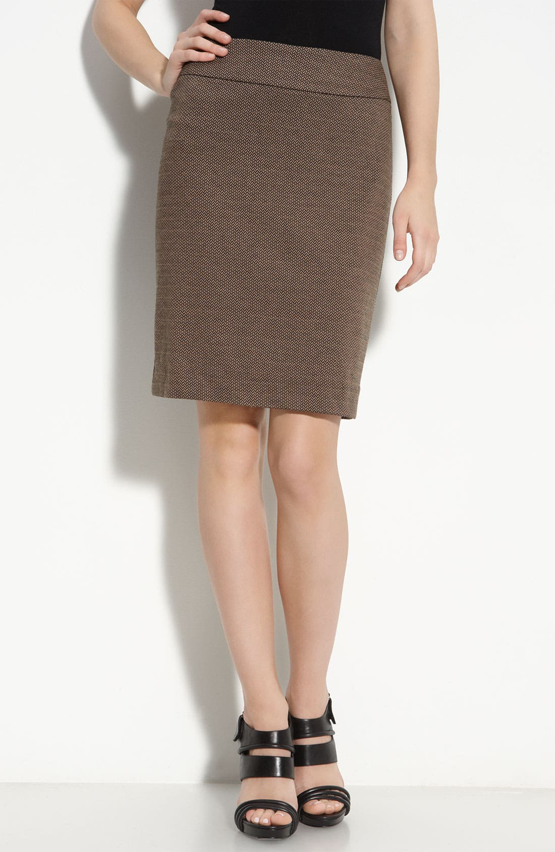 Main Image - Halogen® Patterned Knit Skirt (Petite)