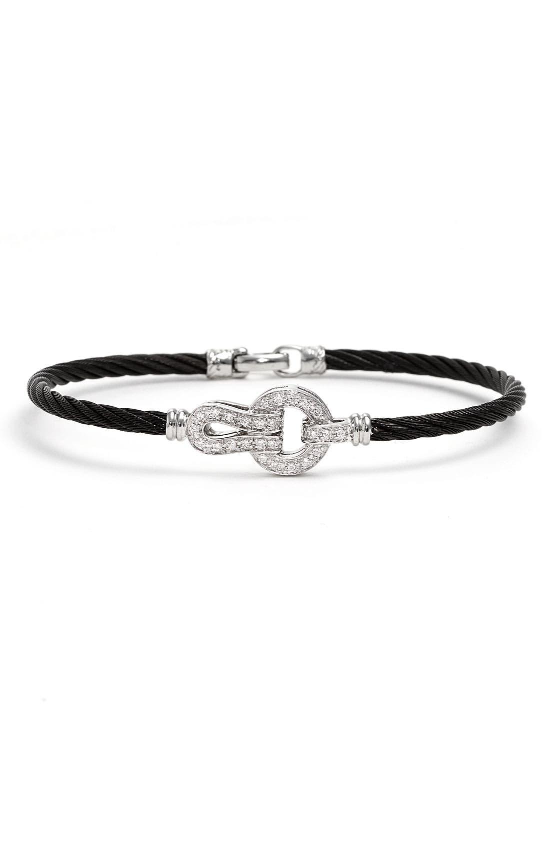 Alternate Image 1 Selected - ALOR® Circle Knot Diamond Bangle