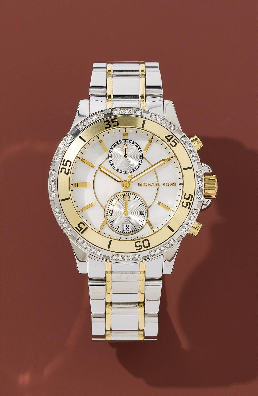 Alternate Image 2  - Michael Kors 'Garret' Chronograph & Crystal Watch