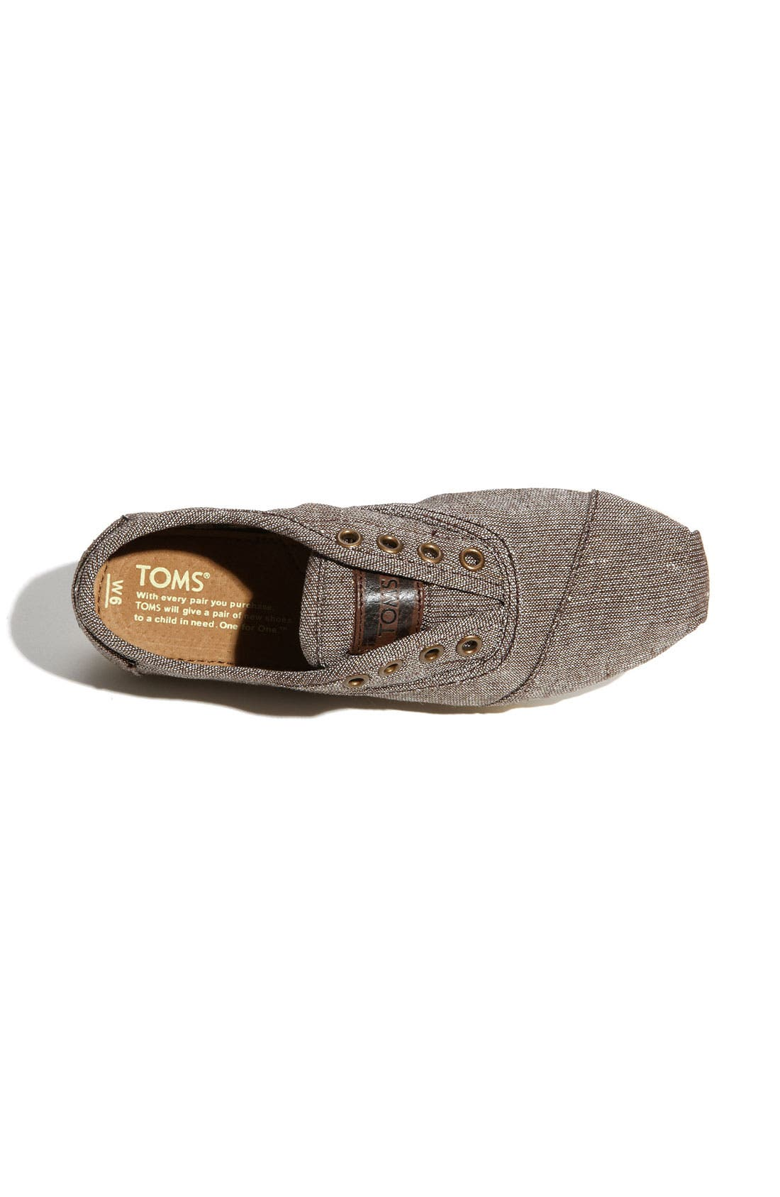 Alternate Image 3  - TOMS 'Cordones' Metallic Slip-On (Women)