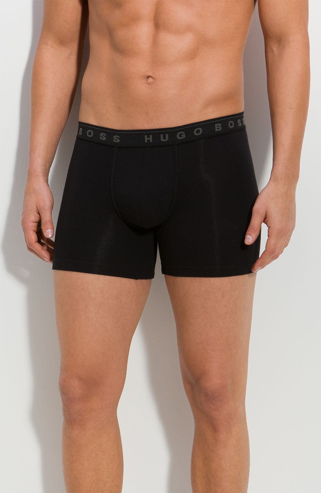 Alternate Image 1 Selected - BOSS Black 'Cyclist' Boxer Briefs (3-Pack)