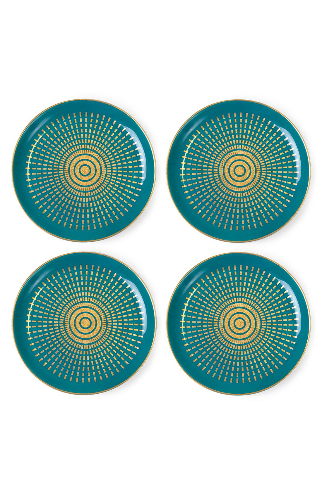 Alternate Image 2  - Jonathan Adler 'Santorini' Porcelain Coasters (Set of 4)
