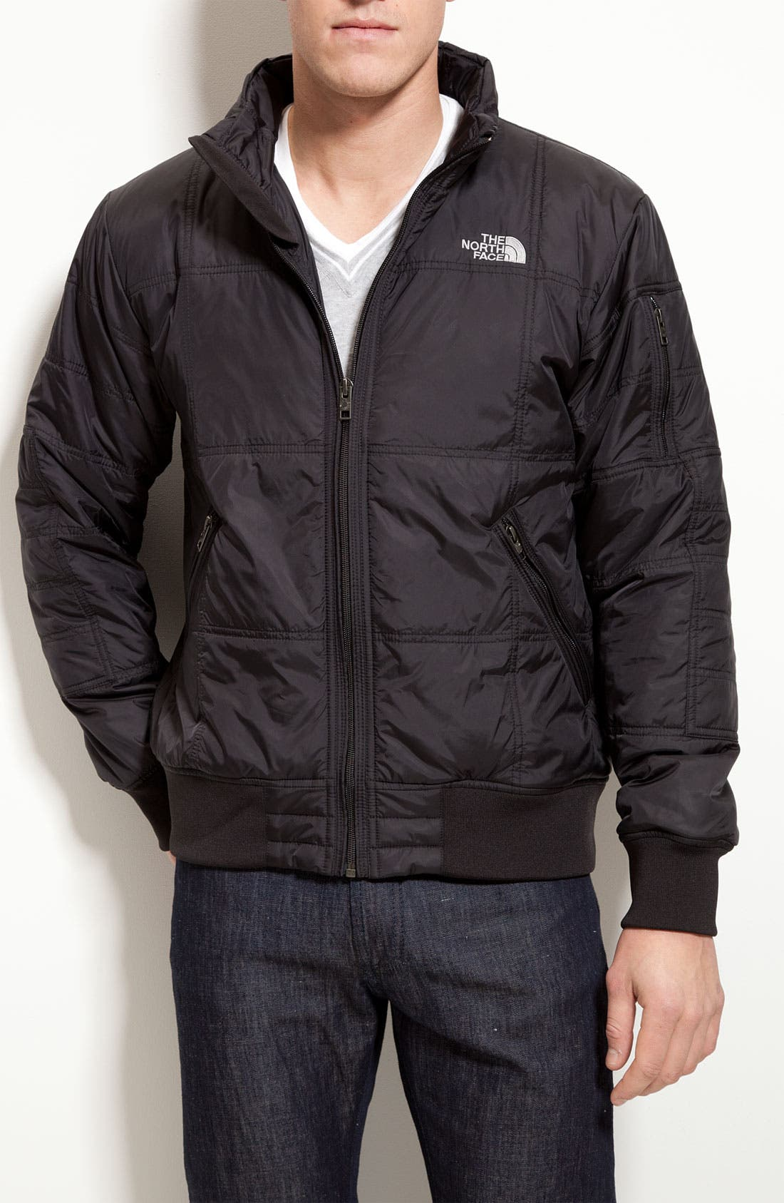 Alternate Image 1 Selected - The North Face 'Boss' Quilted Bomber Jacket