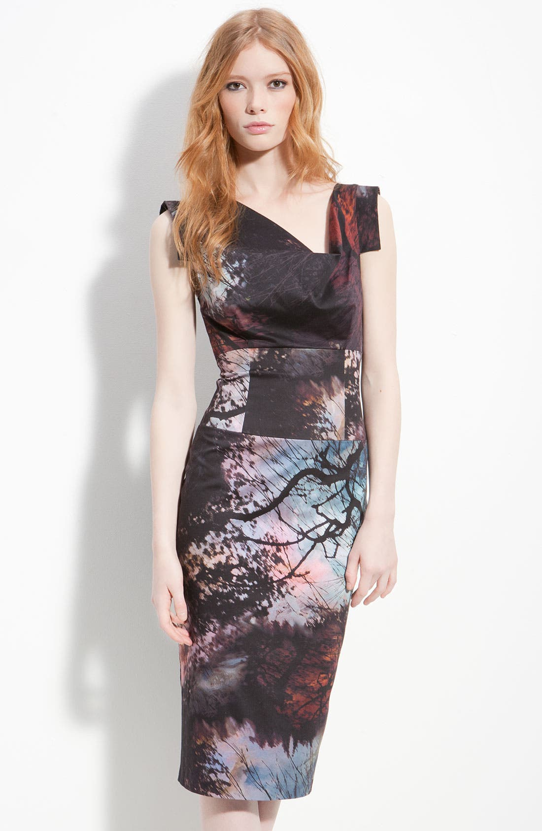 Main Image - Black Halo 'Jackie' Print Pencil Dress