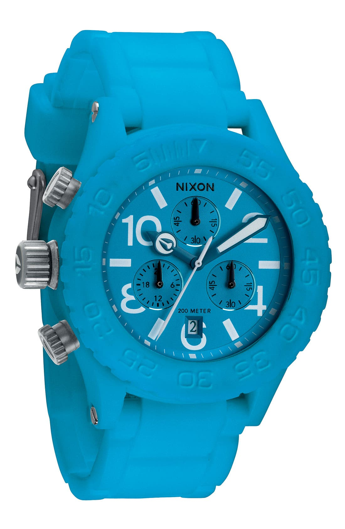Alternate Image 1 Selected - Nixon 'The 42-20 Rubber Chrono' Watch