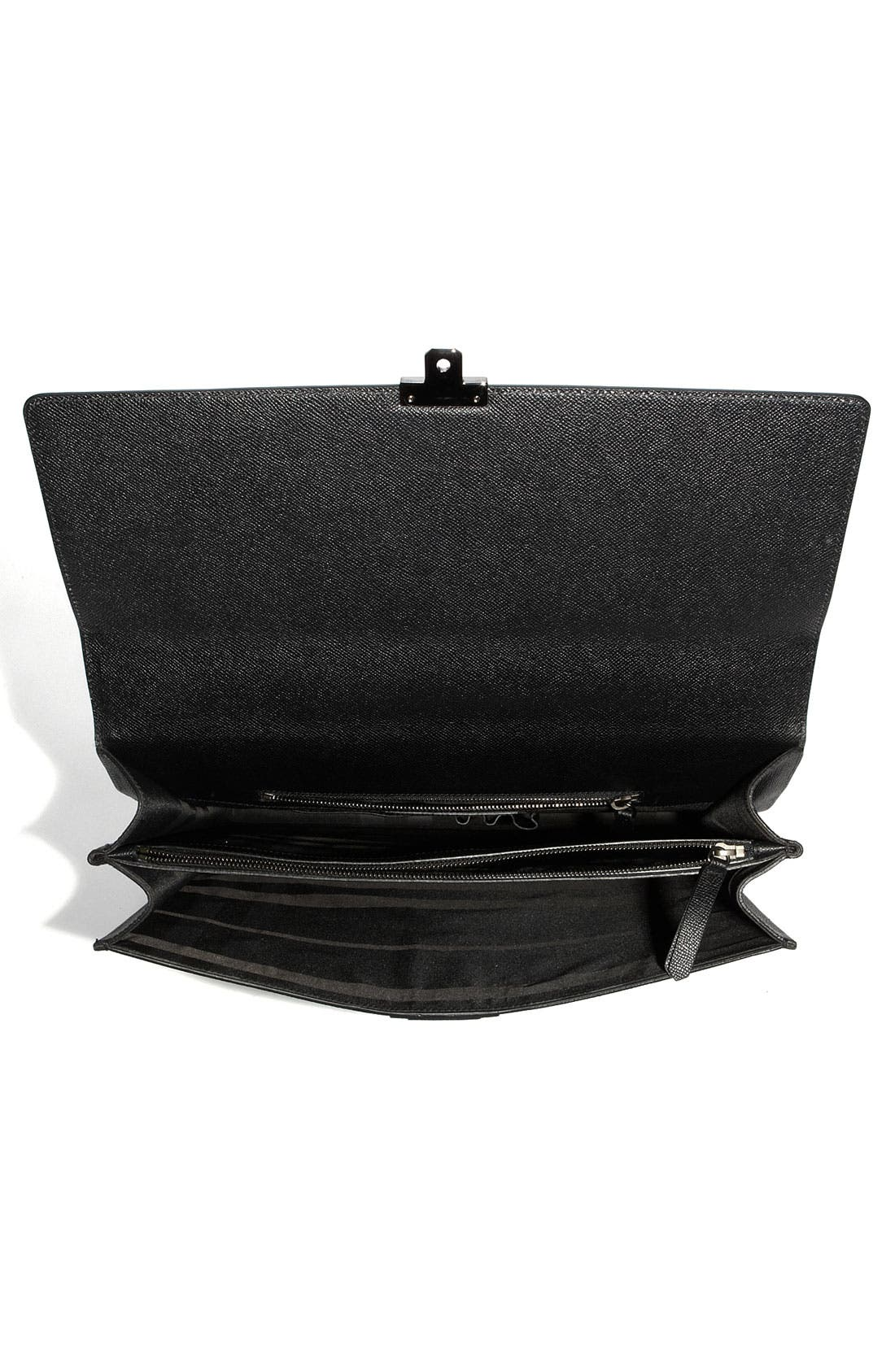 Alternate Image 3  - Burberry Leather Accordion Briefcase