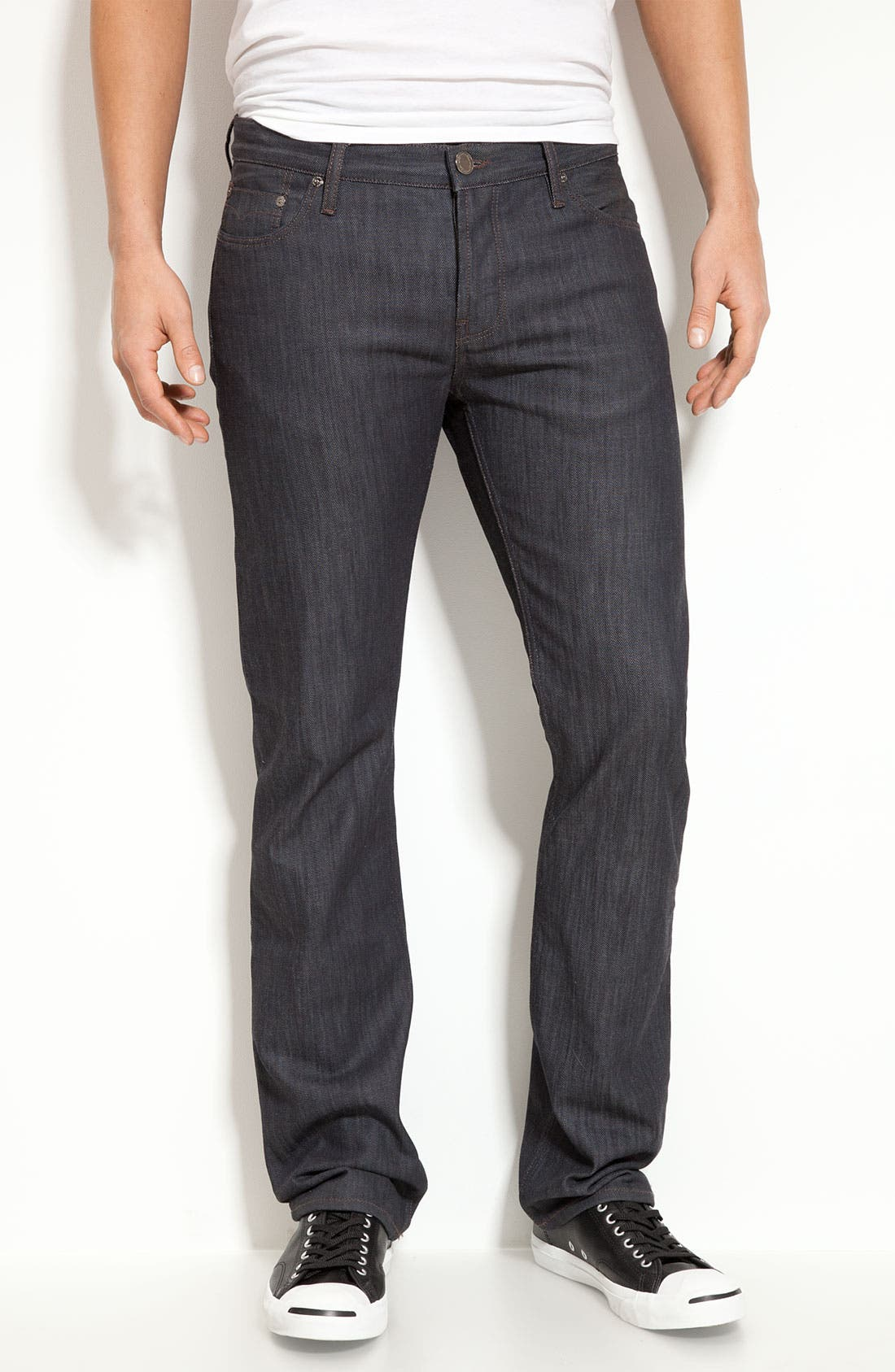 Alternate Image 2  - Burberry London Slim Leg Jeans (Navy Wash)