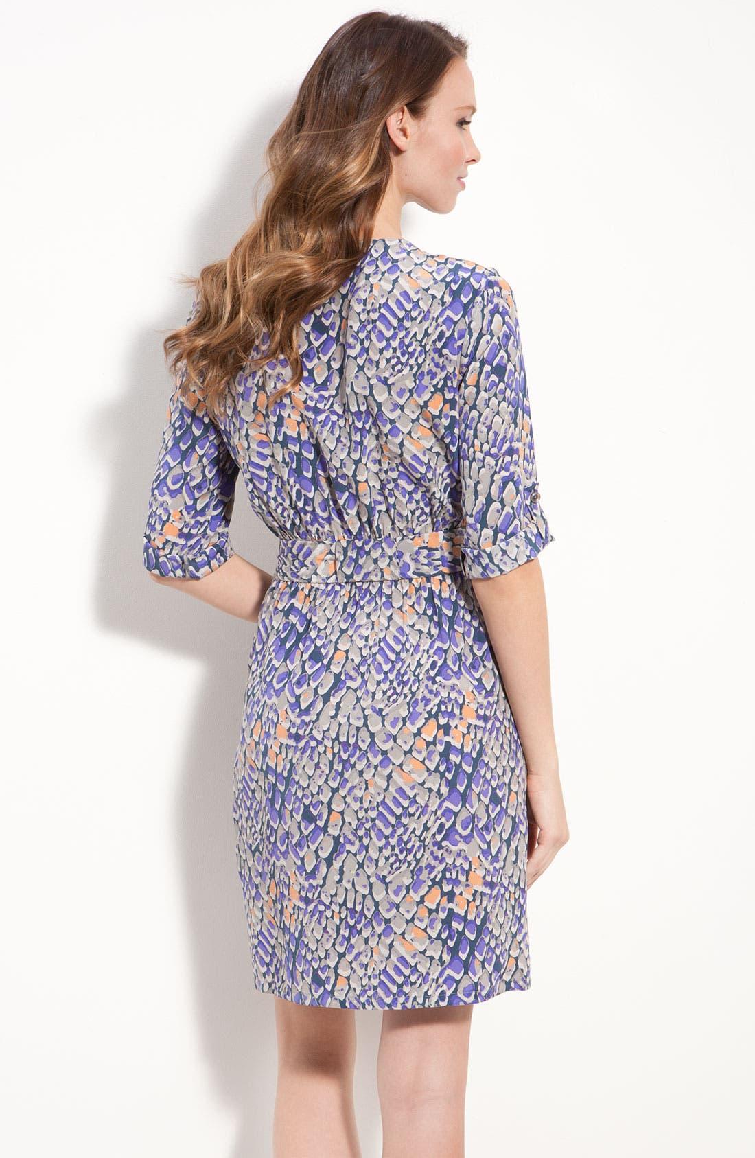 Alternate Image 2  - Presley Skye Print Silk Crêpe de Chine Dress