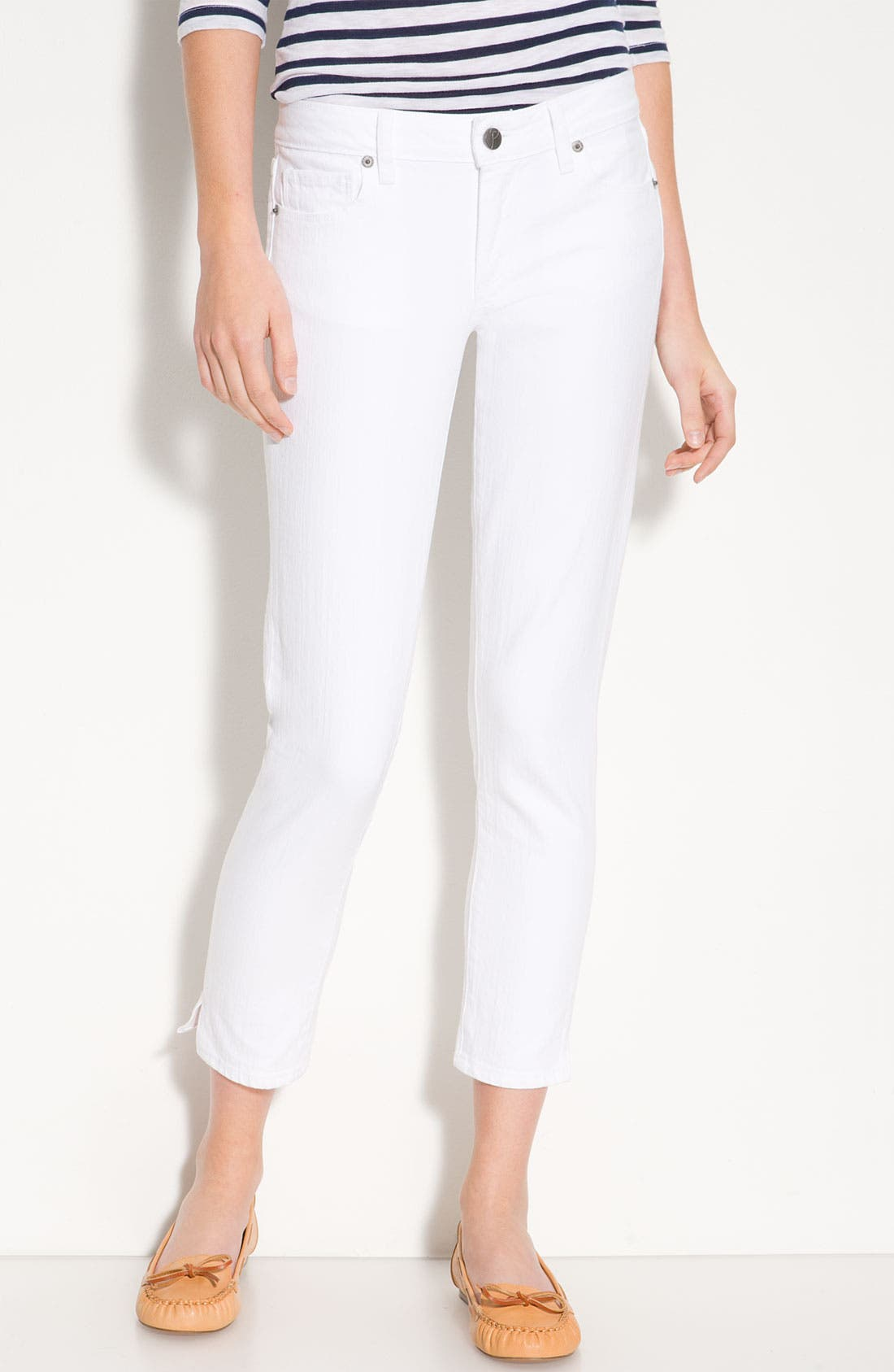Alternate Image 2  - Paige Denim 'Kylie' Crop Skinny Jeans (Optic White Wash)