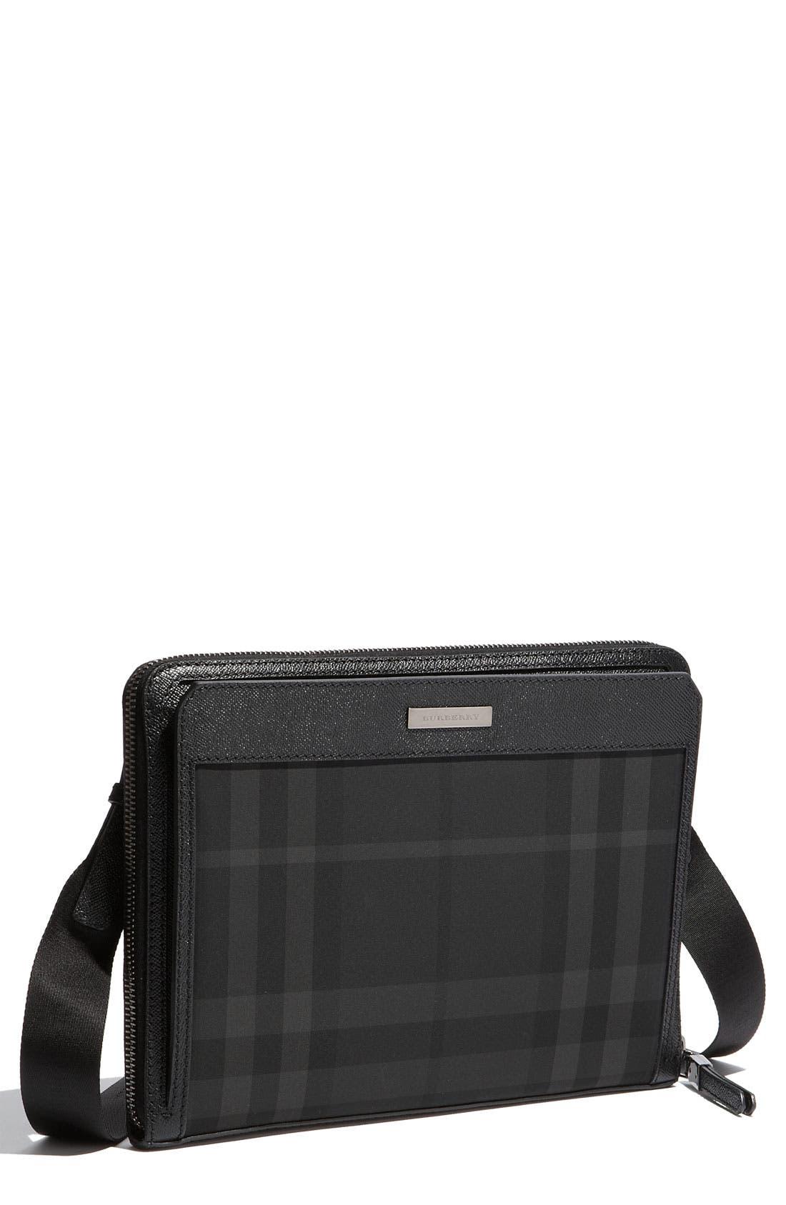 Alternate Image 1 Selected - Burberry Check Print Crossbody Bag