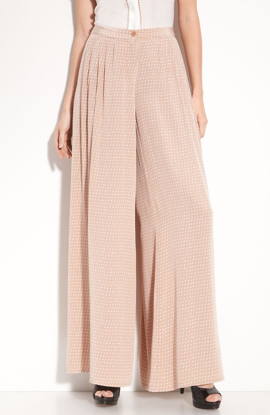 Alternate Image 1 Selected - Leith Pleated Silk Palazzo Pants