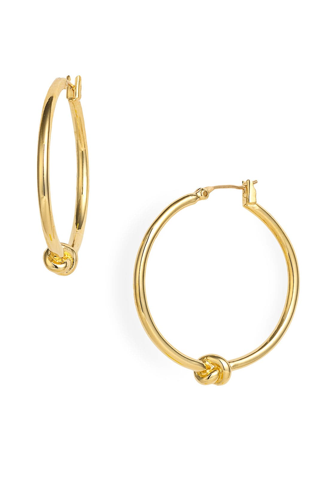 Alternate Image 1 Selected - kate spade new york 'sailors knot' hoop earrings