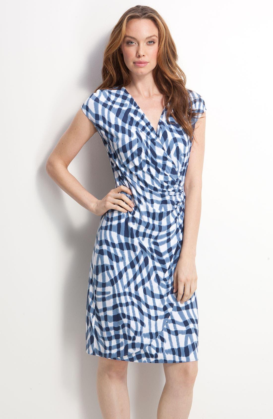 Alternate Image 1 Selected - Tommy Bahama 'Zebra Plaid' Dress