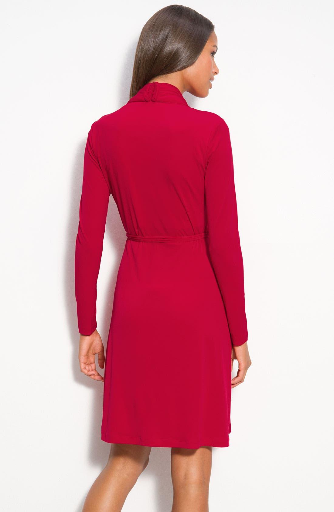 Alternate Image 2  - Calvin Klein Pleat Front Jersey Dress