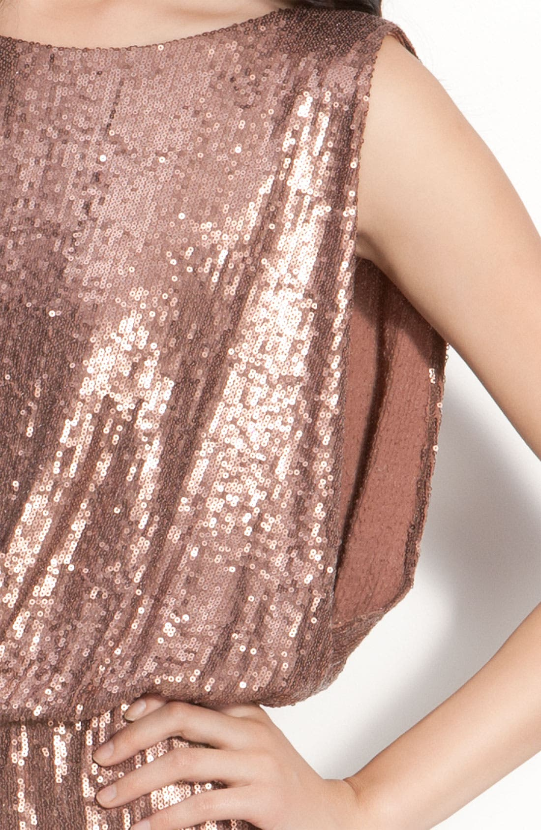 Alternate Image 3  - Laundry by Shelli Segal Bloused Sequin Dress