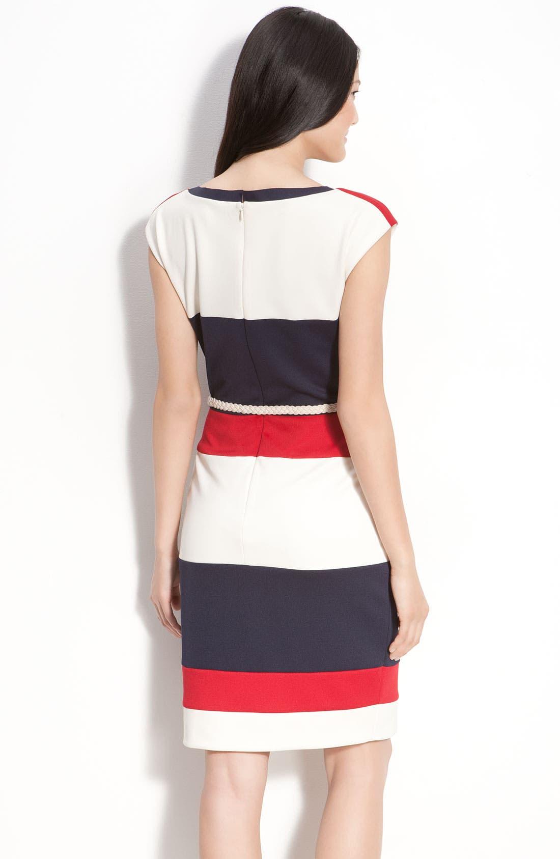 Alternate Image 2  - Maggy London Techno Stretch Colorblock Jersey Sheath Dress