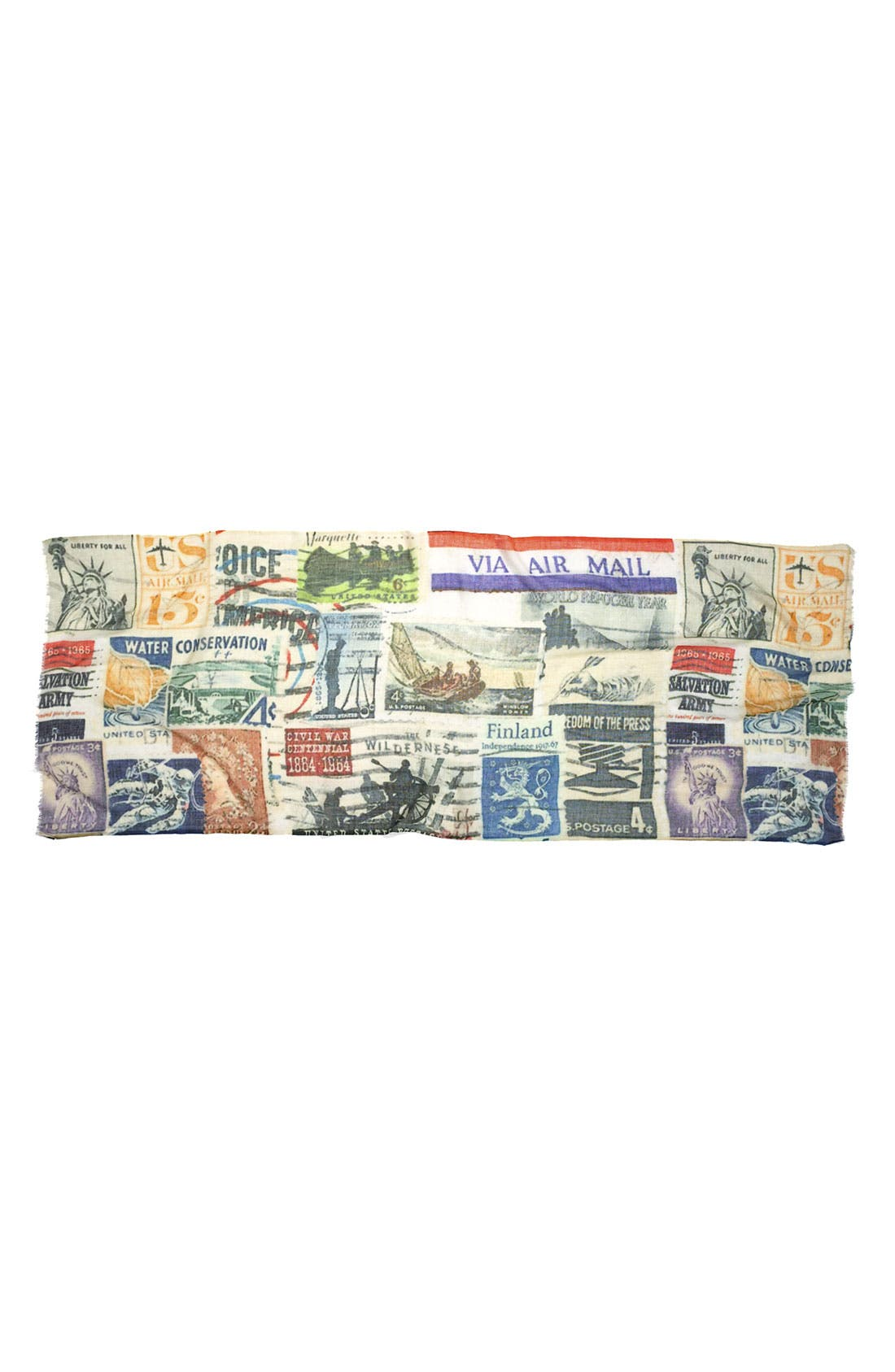 Alternate Image 2  - Shawlux 'Captured Moments - Vintage Stamps' Scarf