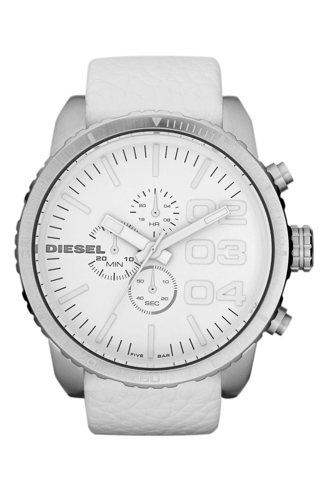 Main Image - DIESEL® 'Double Down' Large Chronograph Watch, 51mm
