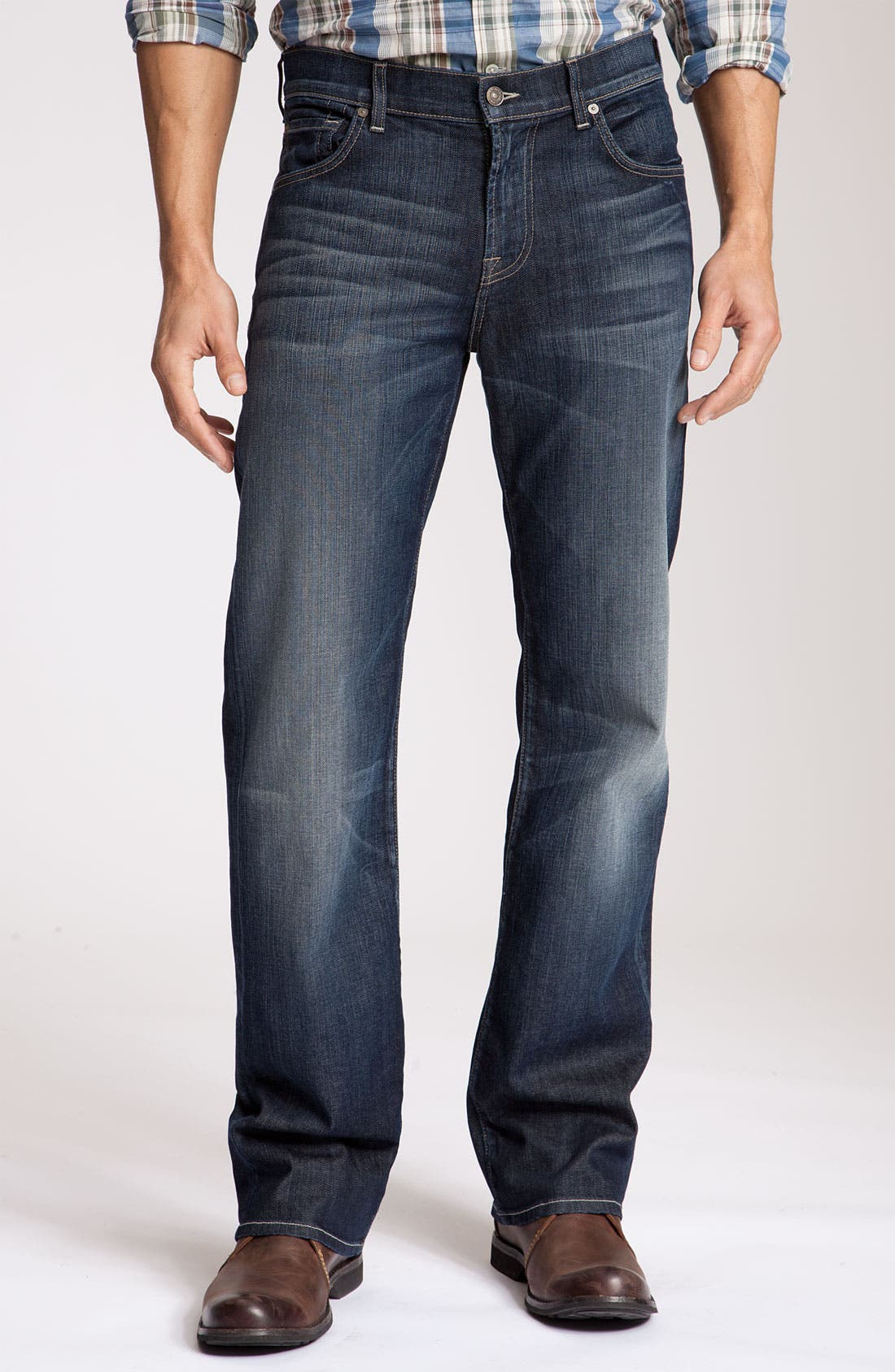 Alternate Image 3  - 7 For All Mankind® 'Austyn' Relaxed Straight Leg Jeans (Nite Shadow)