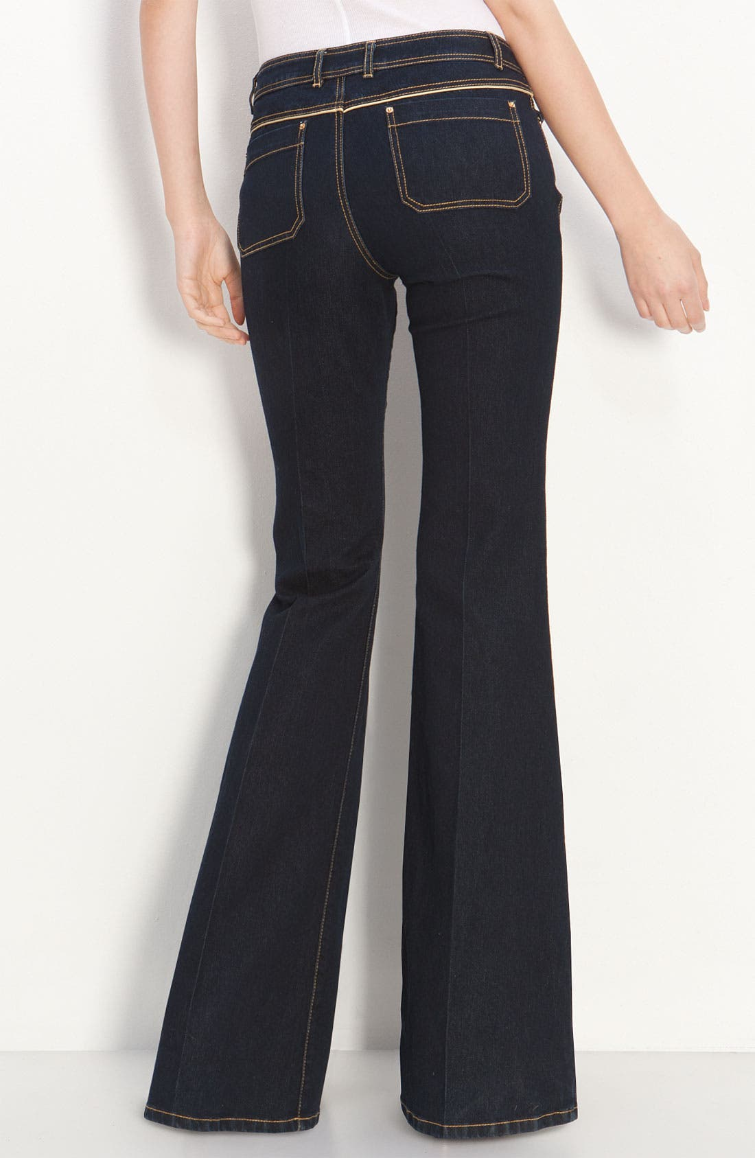 Alternate Image 1 Selected - Rachel Zoe Piped Flare Leg Jeans (Long)
