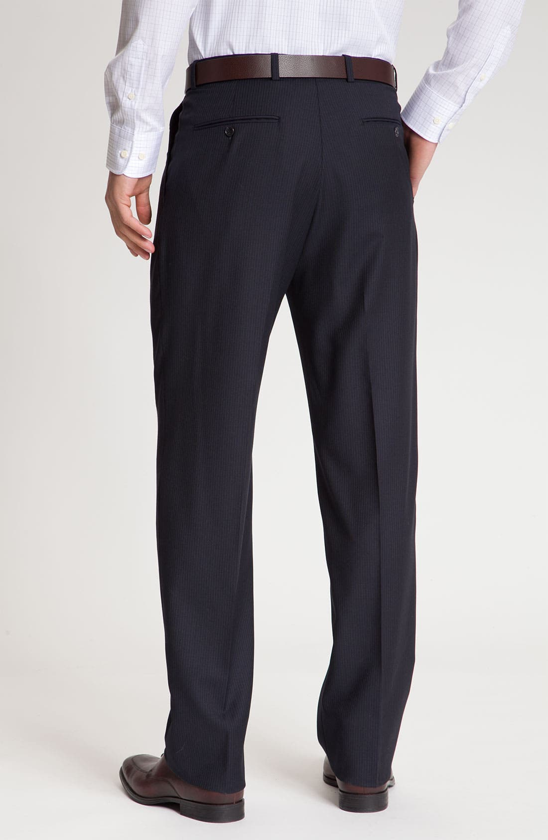 Alternate Image 5  - Hart Schaffner Marx Pinstripe Wool Suit