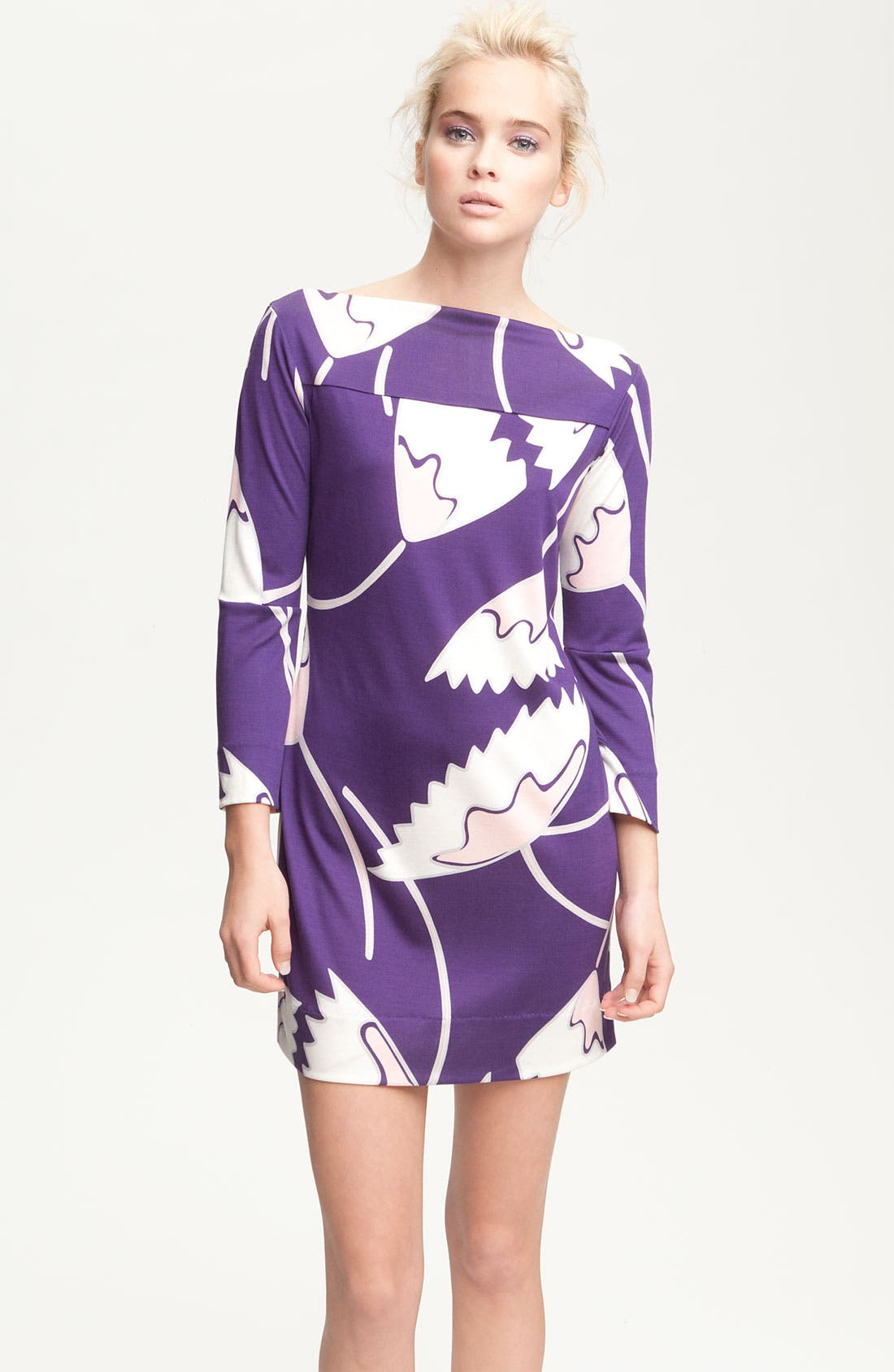 Alternate Image 1 Selected - Diane von Furstenberg 'Ruri' Print Silk Minidress