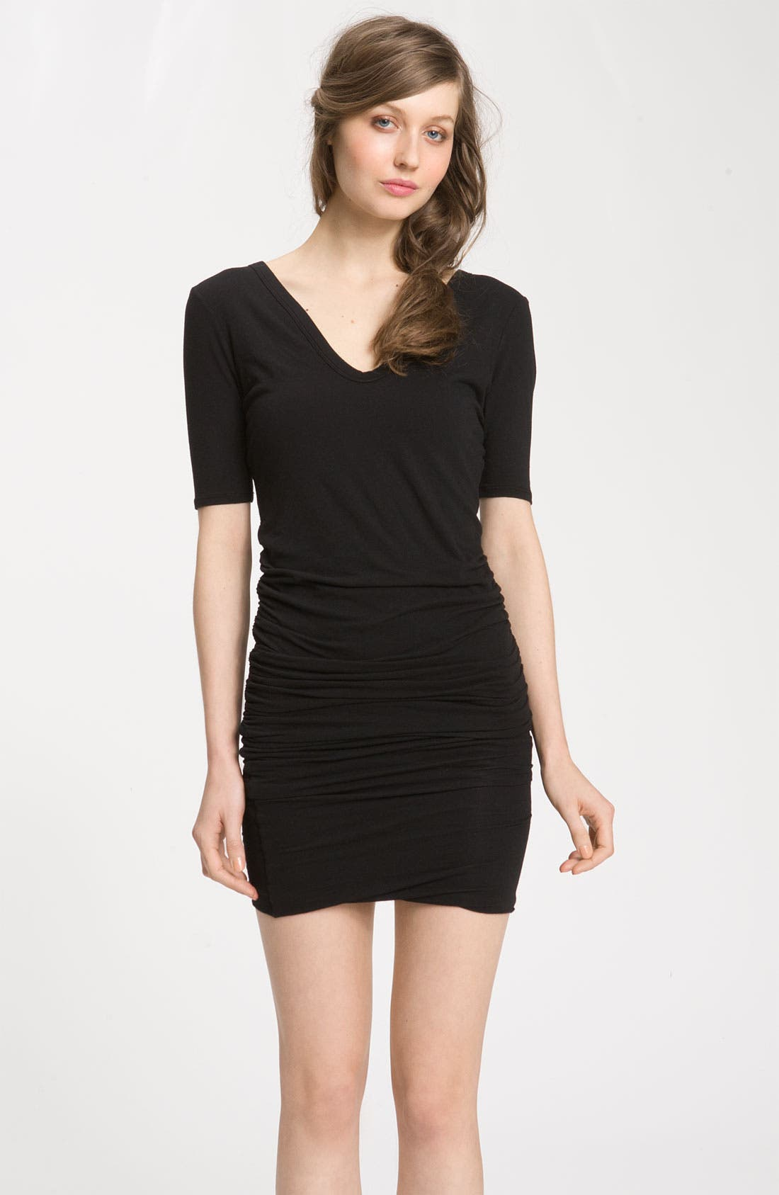 Main Image - James Perse Ruched V-Neck Dress