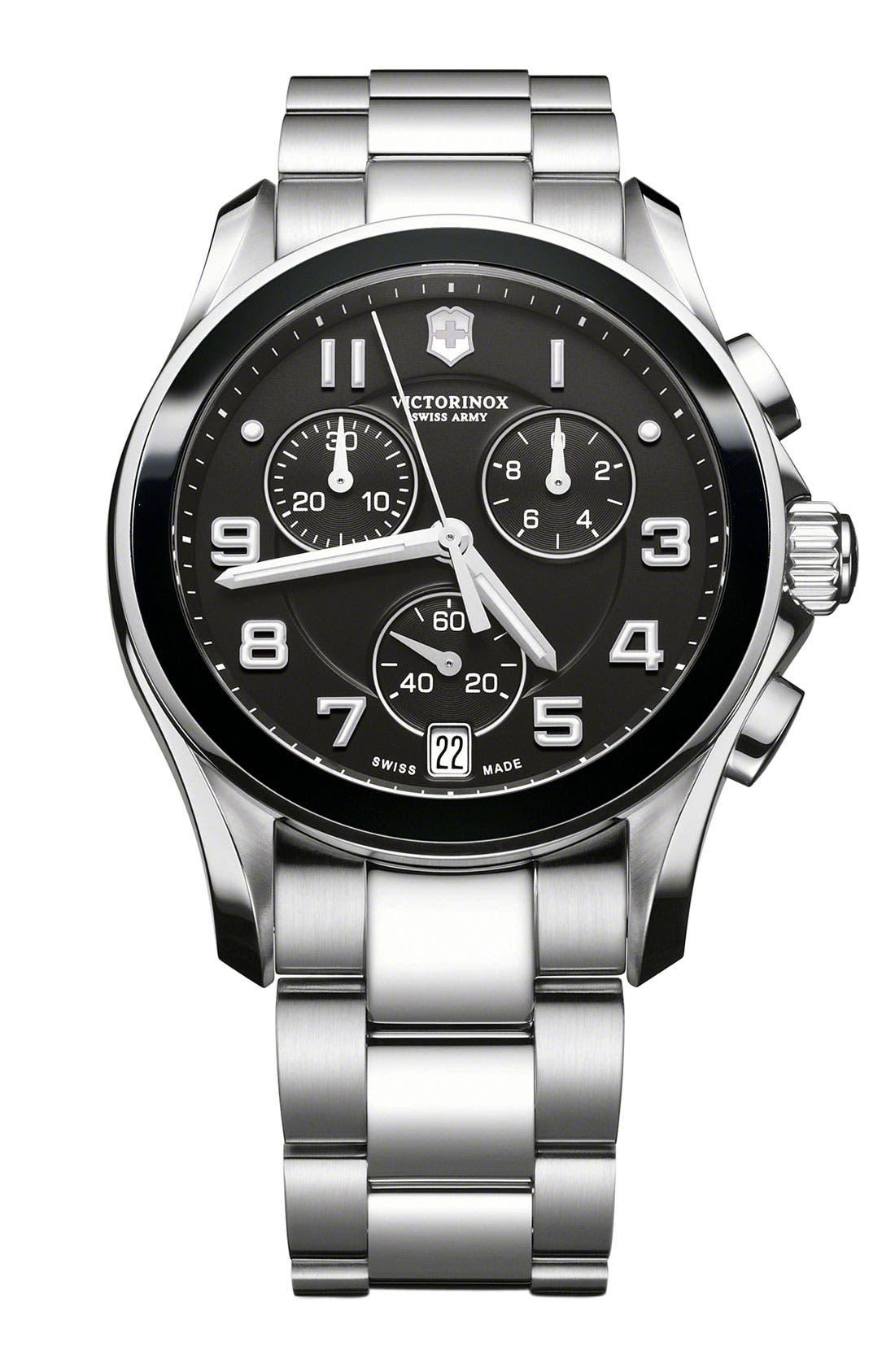 Main Image - Victorinox Swiss Army® 'Chrono Classic' Watch with Ceramic Bezel