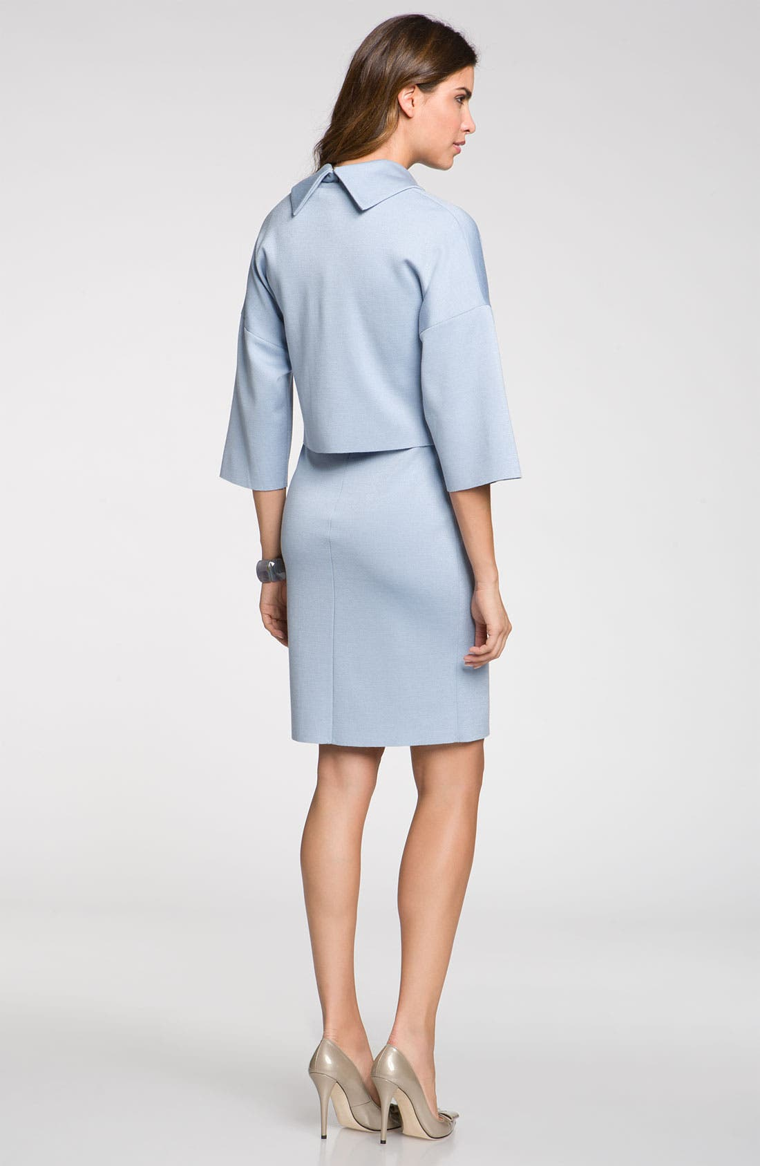 Alternate Image 5  - St. John Collection Stand Away Collar Milano Knit Dress