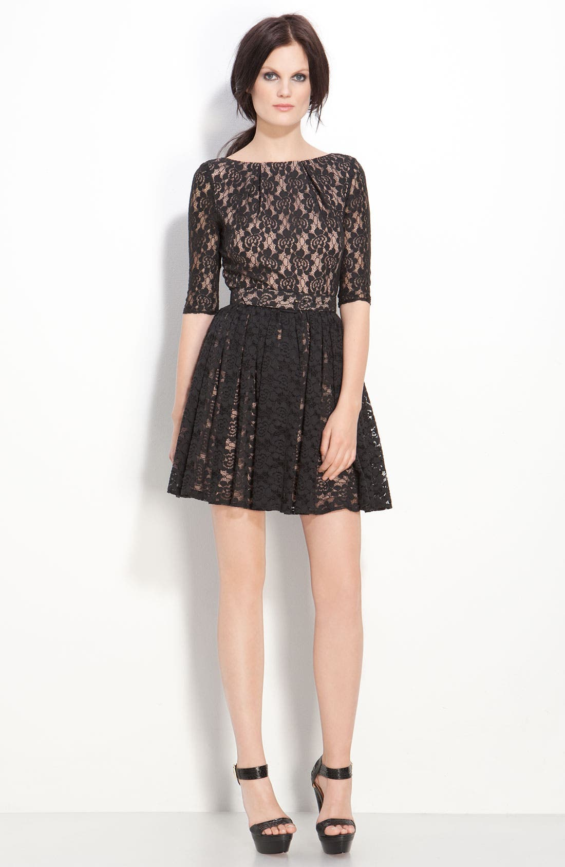 Main Image - Rachel Zoe 'Amanda' Belted Lace Dress