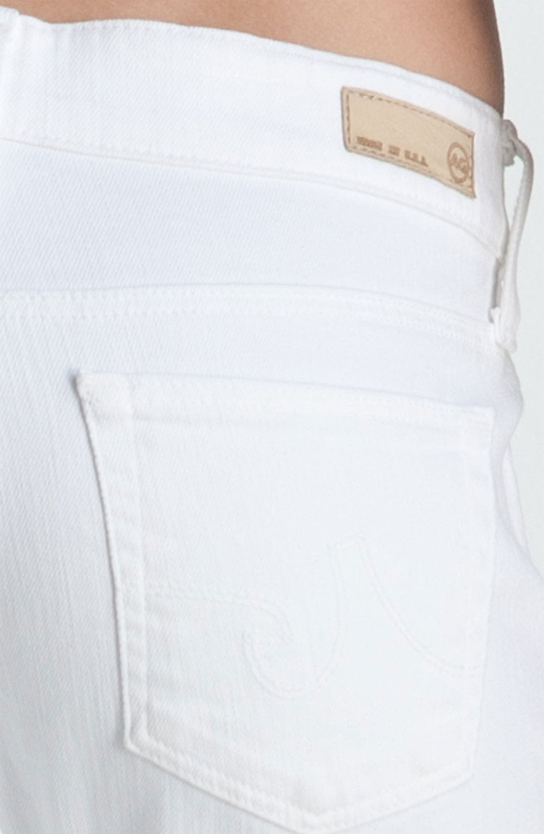 Alternate Image 3  - AG Jeans 'Tomboy' Crop Jeans (White)