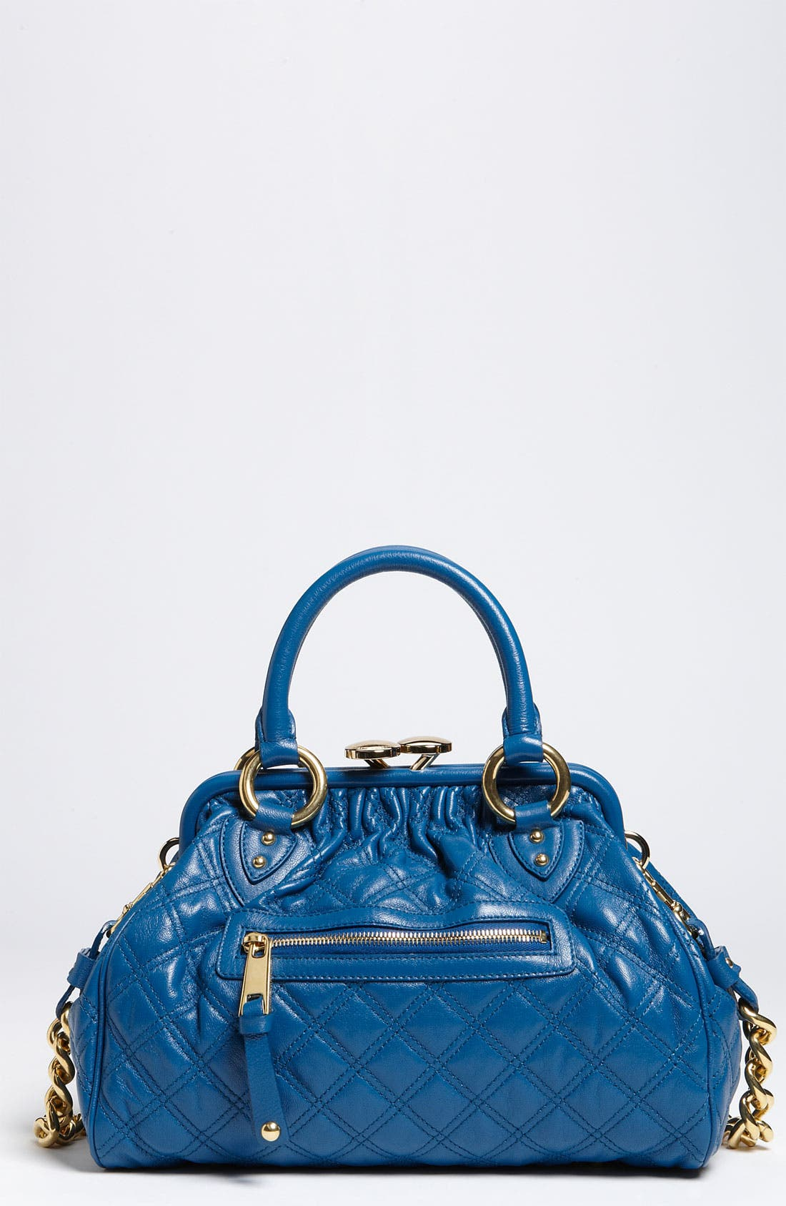 Alternate Image 1 Selected - MARC JACOBS 'Quilting Mini Stam' Leather Satchel