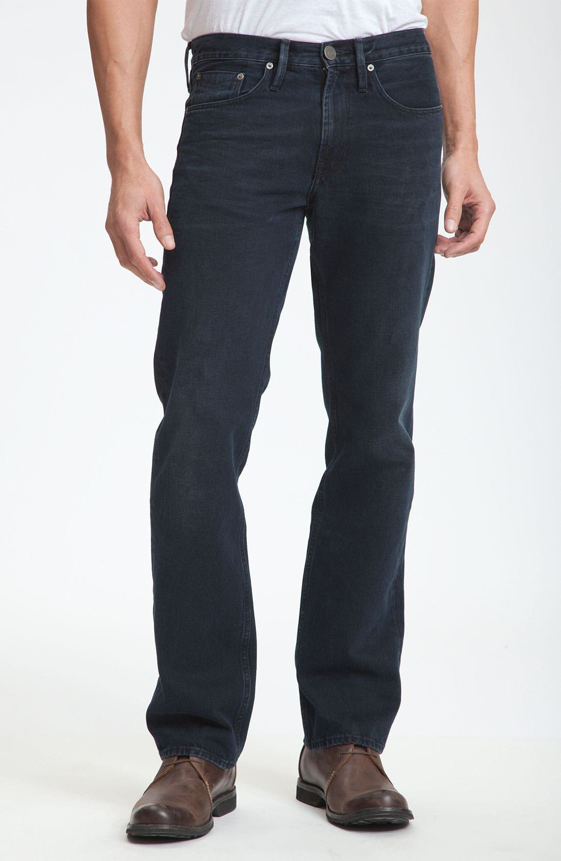 Alternate Image 1 Selected - Burberry Brit Straight Leg Jeans (Supersoft Black)