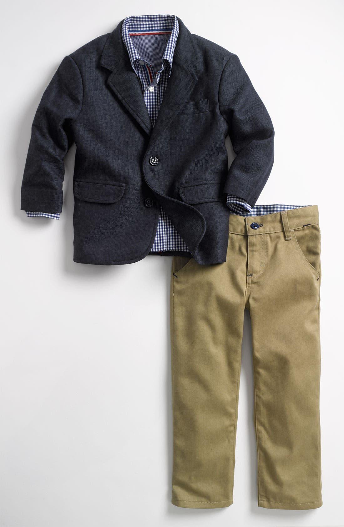 Alternate Image 1 Selected - Sovereign Code 'United' Blazer, Shirt & Pants Set (Toddler)