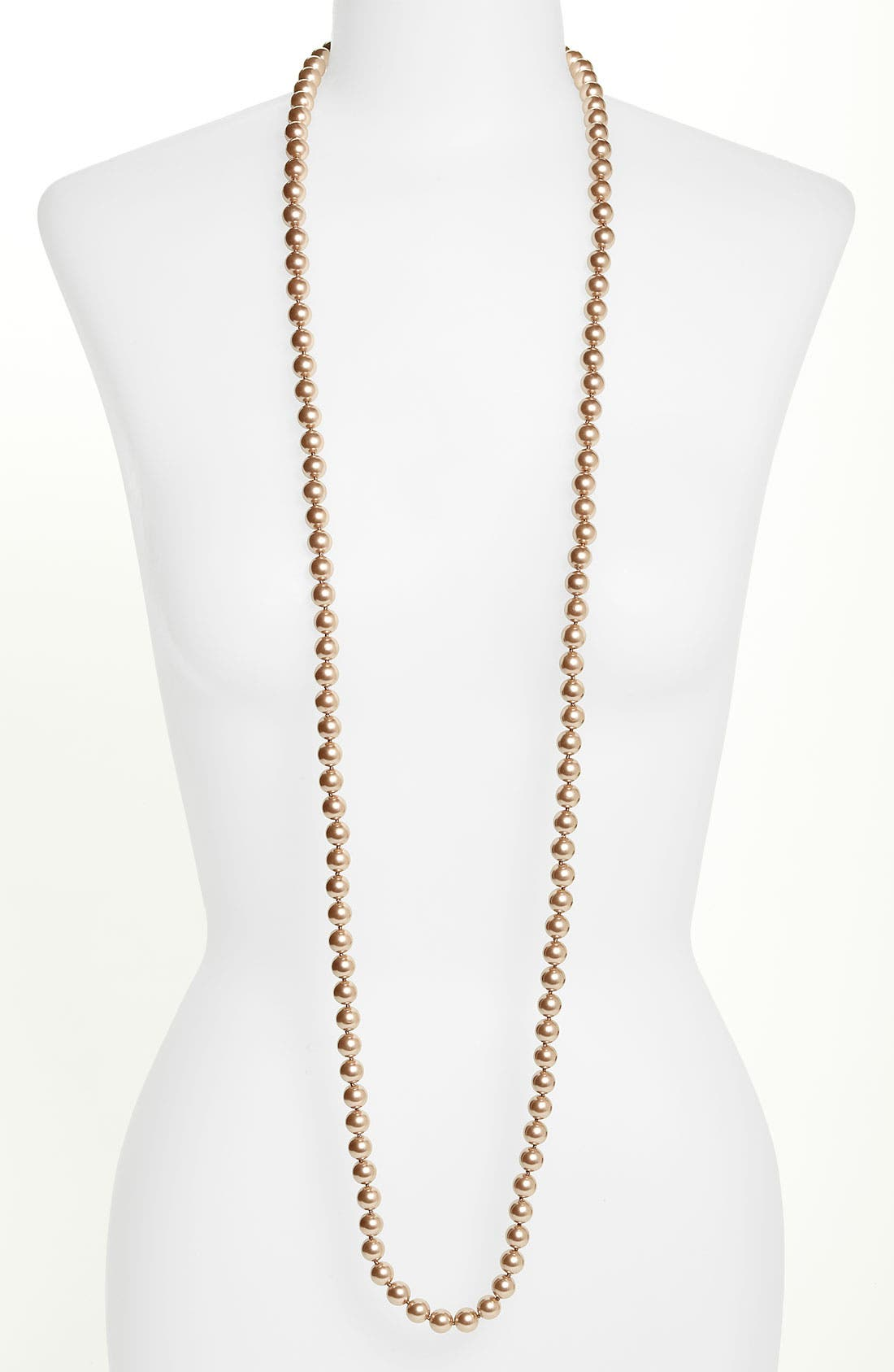 Alternate Image 1 Selected - Givenchy Glass Pearl Rope Necklace