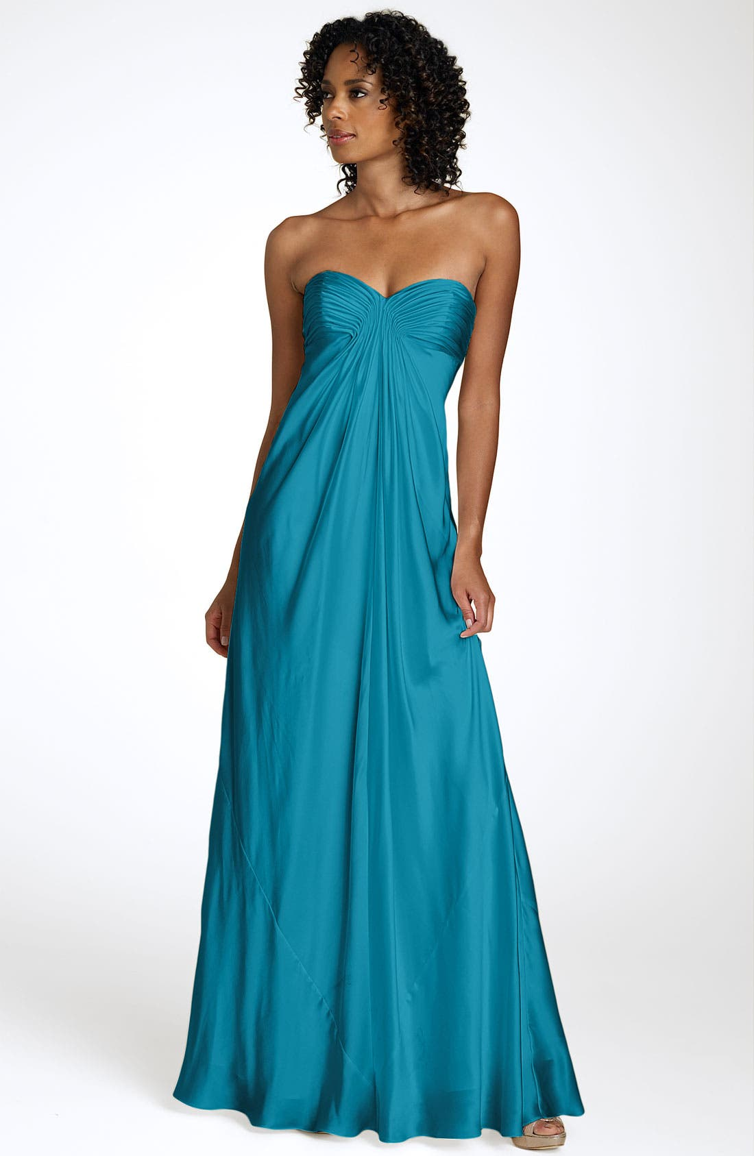 Alternate Image 1 Selected - Laundry by Shelli Segal Strapless Charmeuse Gown