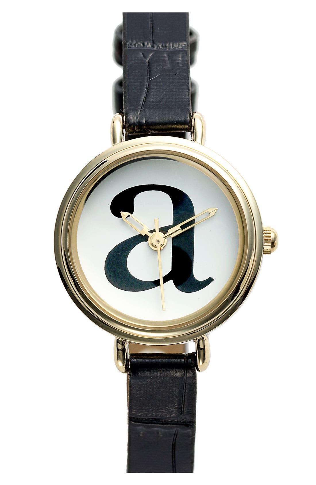 Alternate Image 1 Selected - Titanium Initial Watch