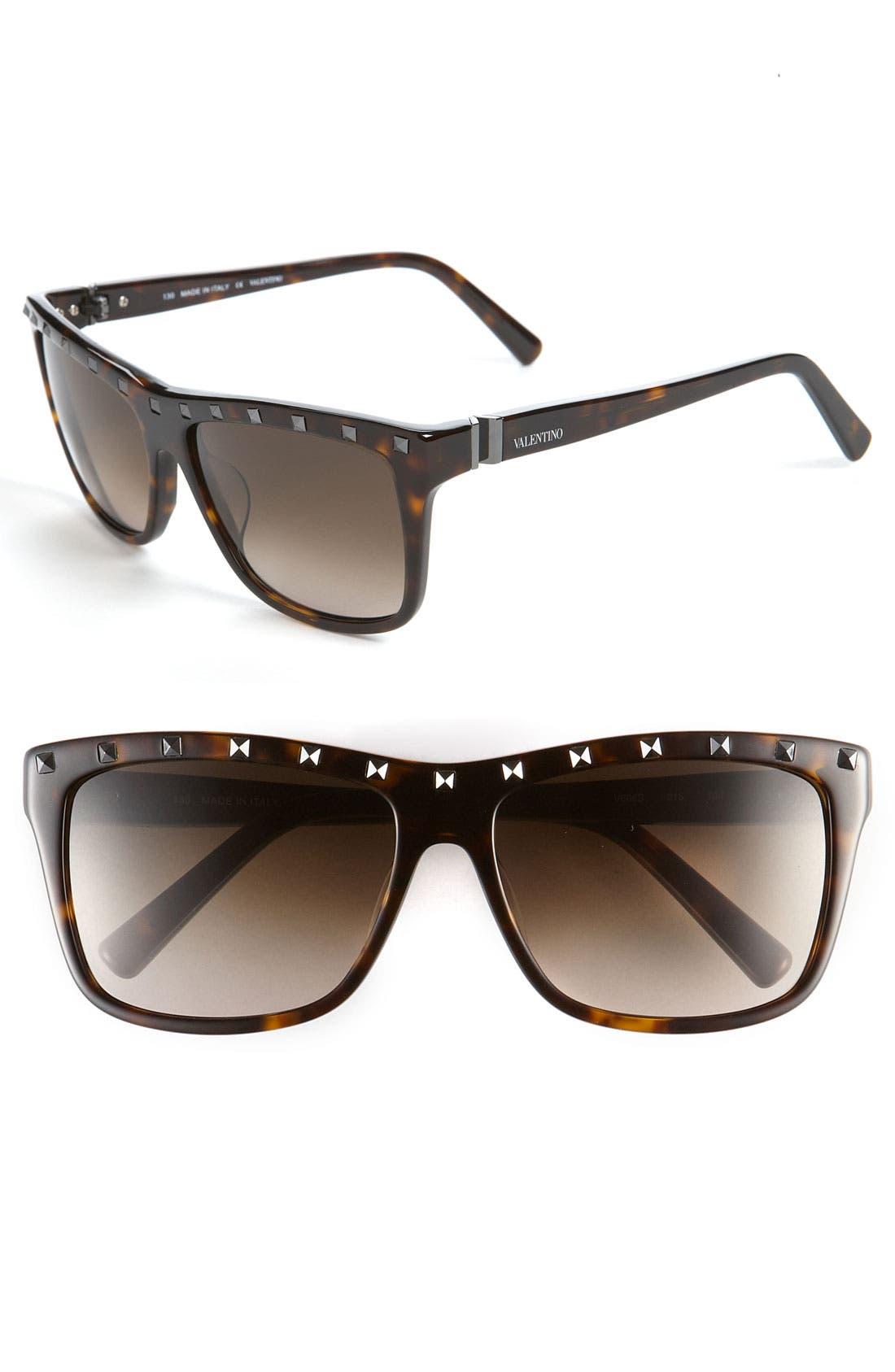 Alternate Image 1 Selected - Valentino 56mm Studded Sunglasses