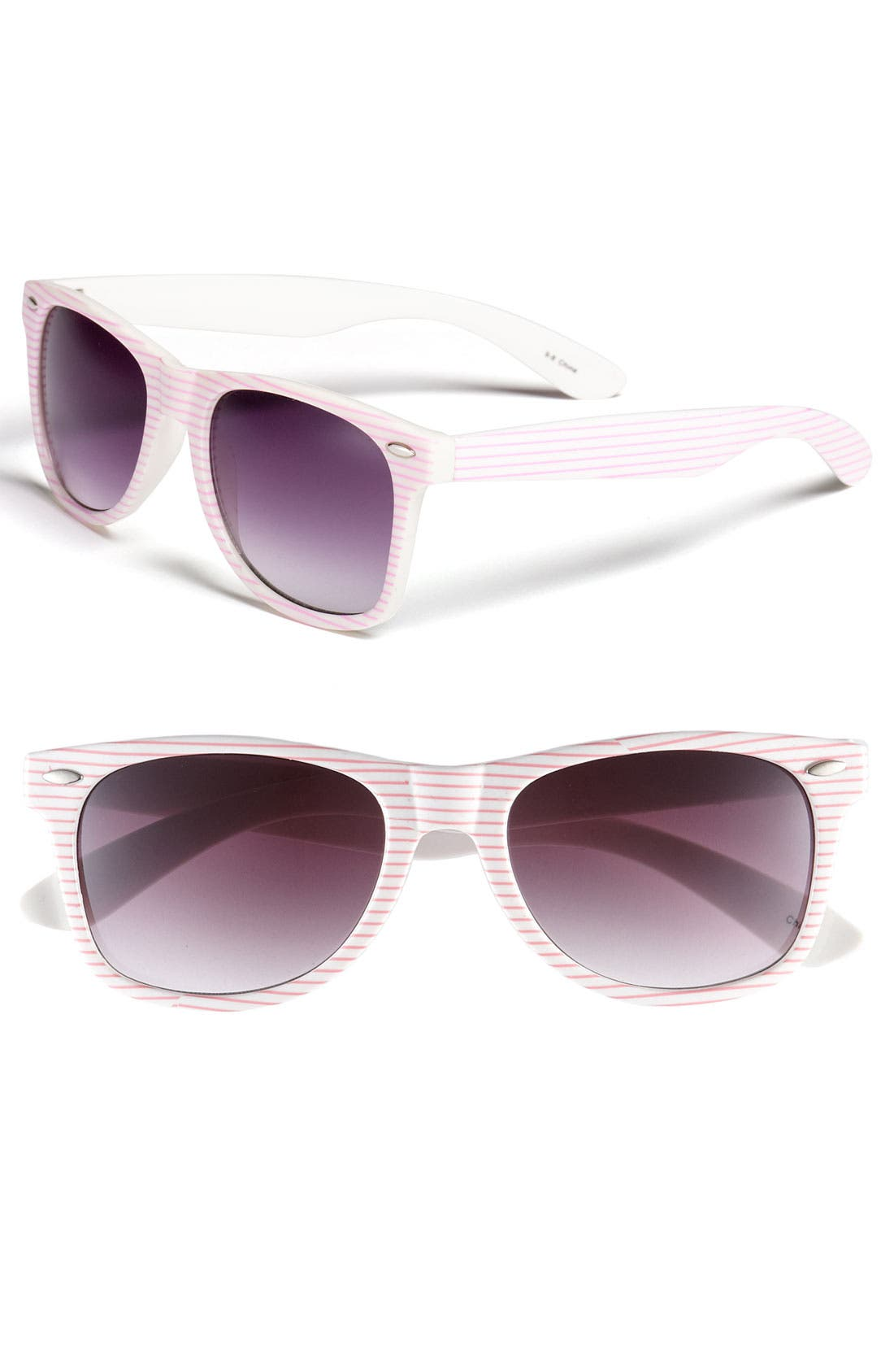 Main Image - Icon Eyewear Striped Retro Sunglasses