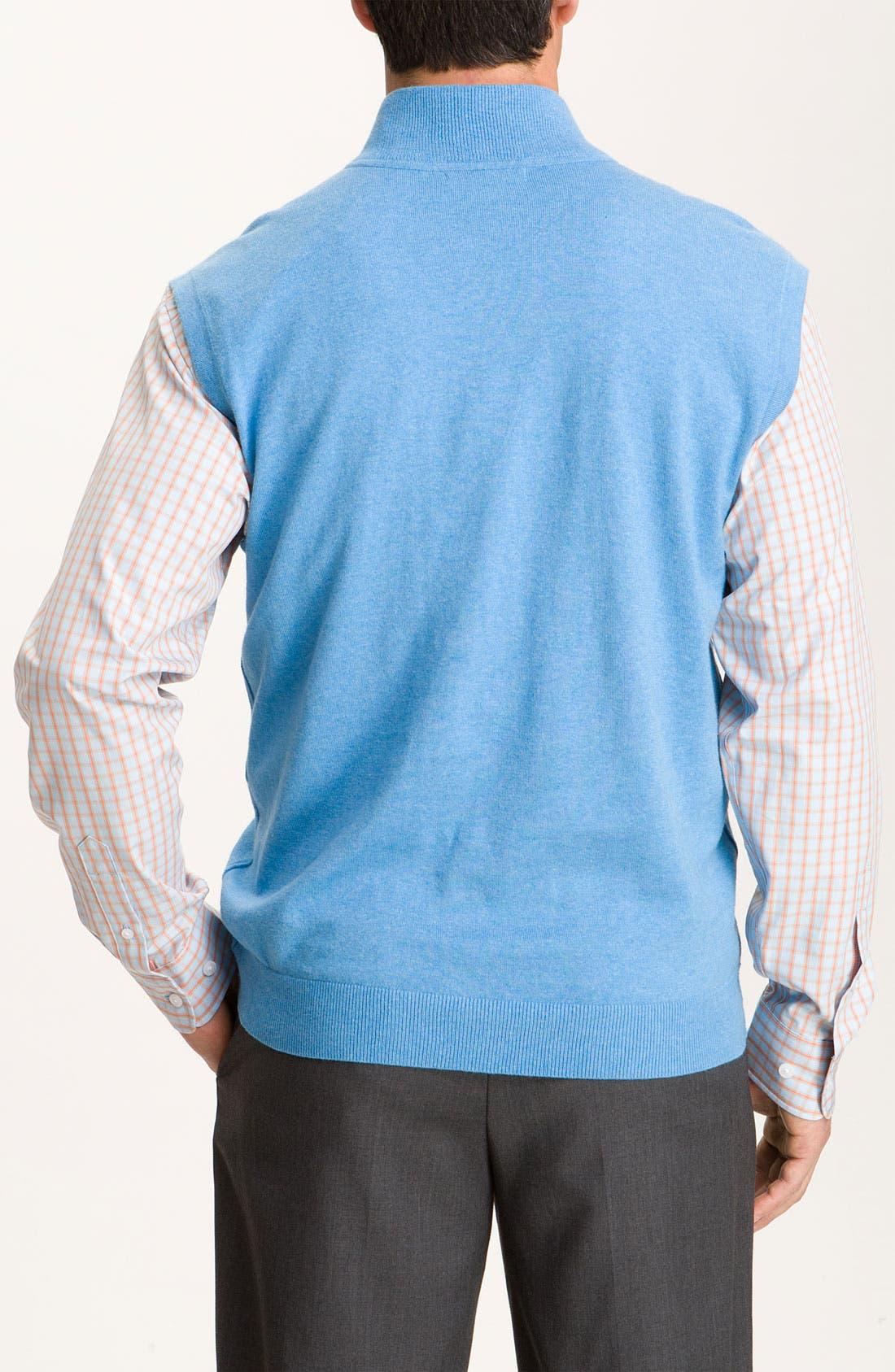 Alternate Image 2  - Cutter & Buck 'Thomas' Half Zip Vest (Big & Tall) (Online Exclusive)