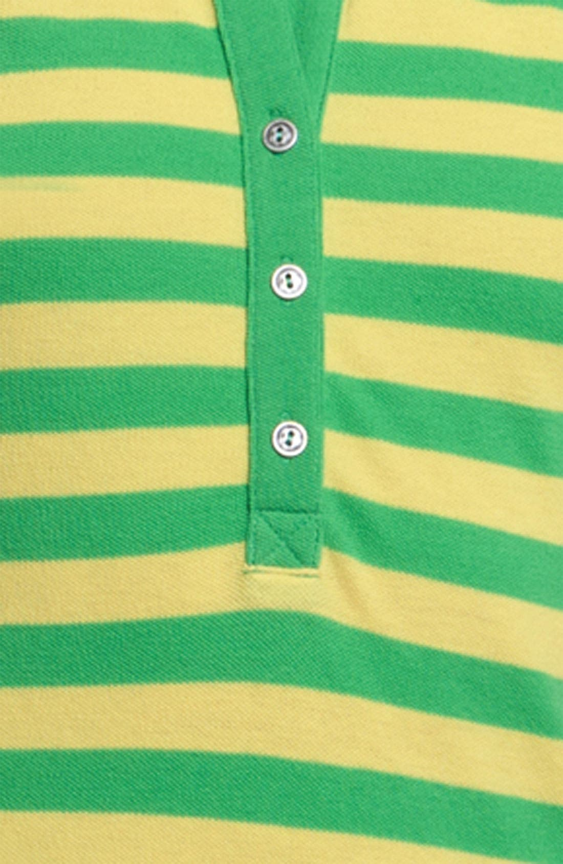 Alternate Image 3  - Stem Stripe Organic Cotton Polo