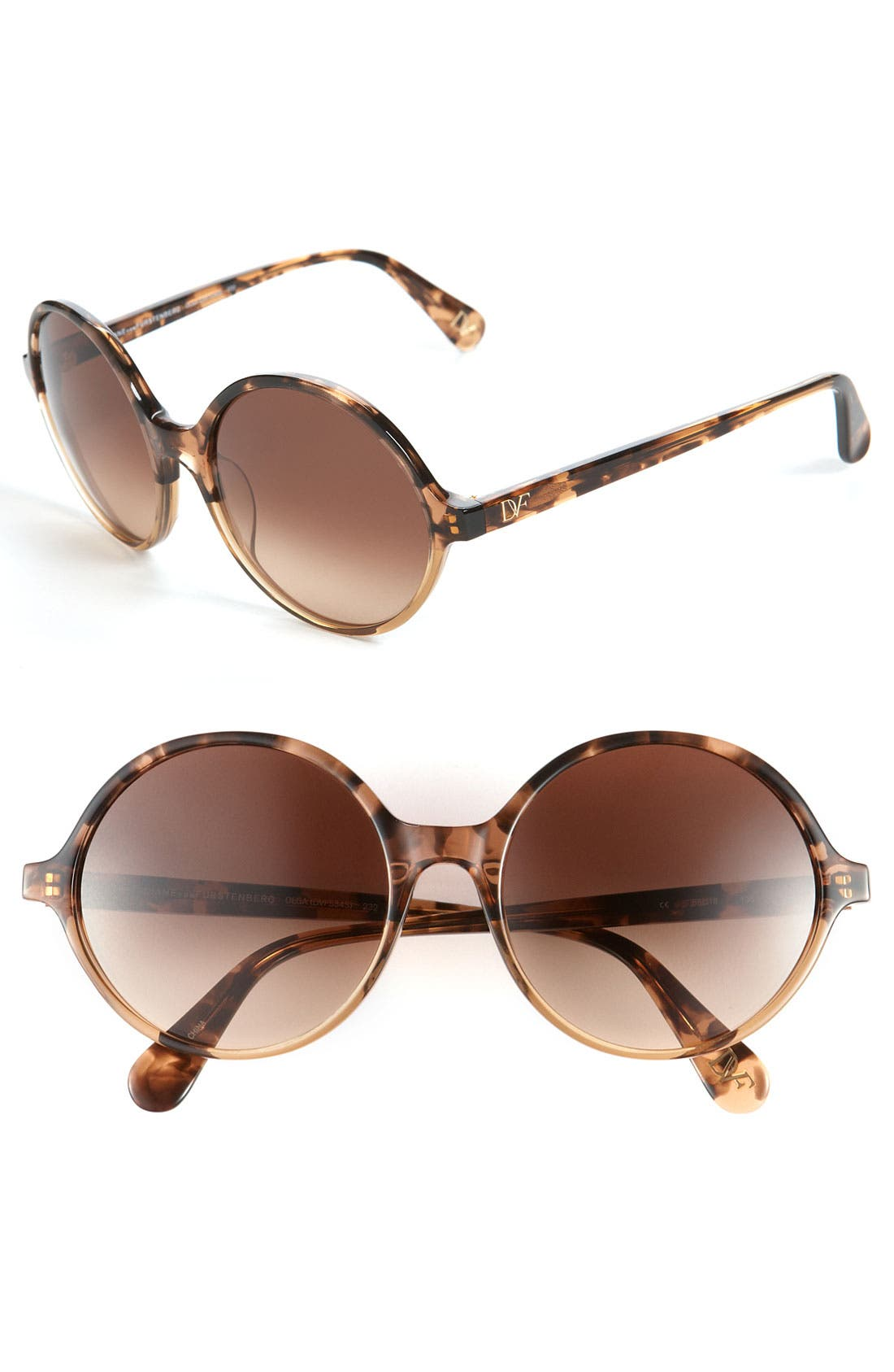 Alternate Image 1 Selected - Diane von Furstenberg Round Sunglasses