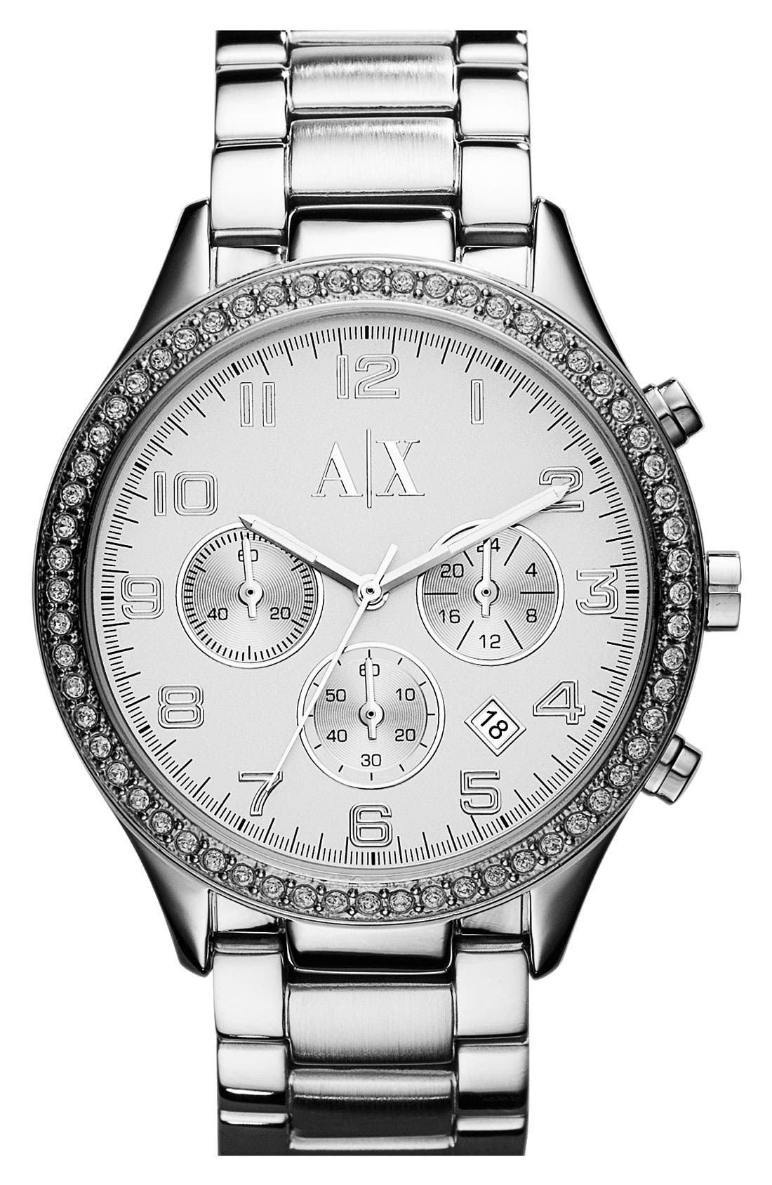 Main Image - AX Armani Exchange Round Bracelet Watch, 42mm (Online Only)