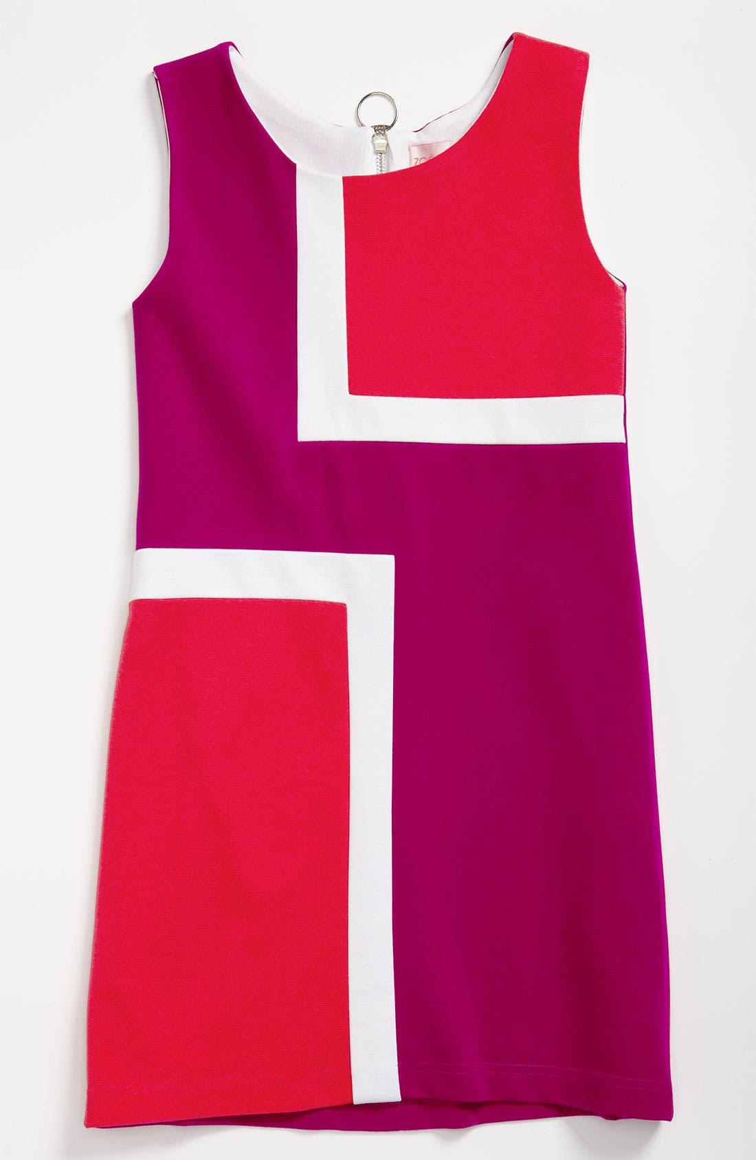 Main Image - Zoe 'Mod Square' A-Line Dress (Big Girls)